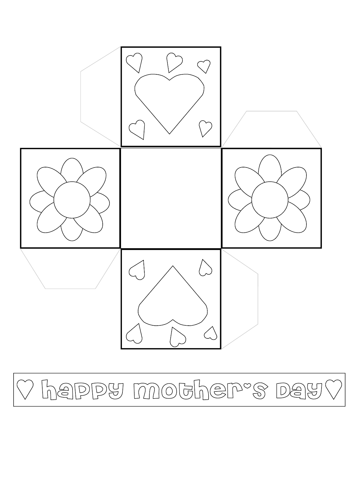 Sweet Mother S Day Basket Templates Free Download