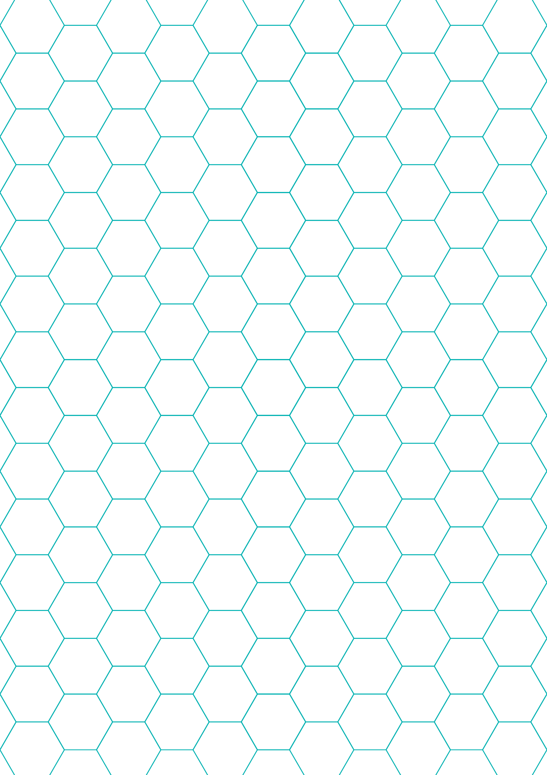 green hexagon and diamond graph paper with 1/4-inch spacing on