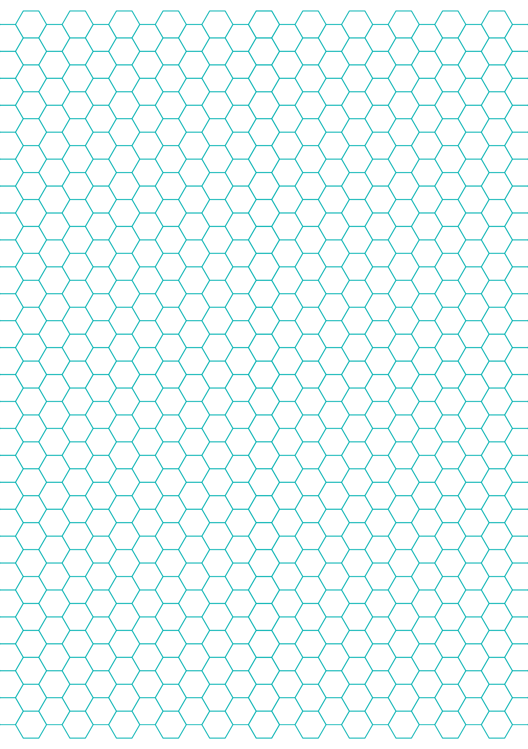Hexagon Graph Paper with 1/4-Inch Spacing on Letter-Sized Paper Free ...