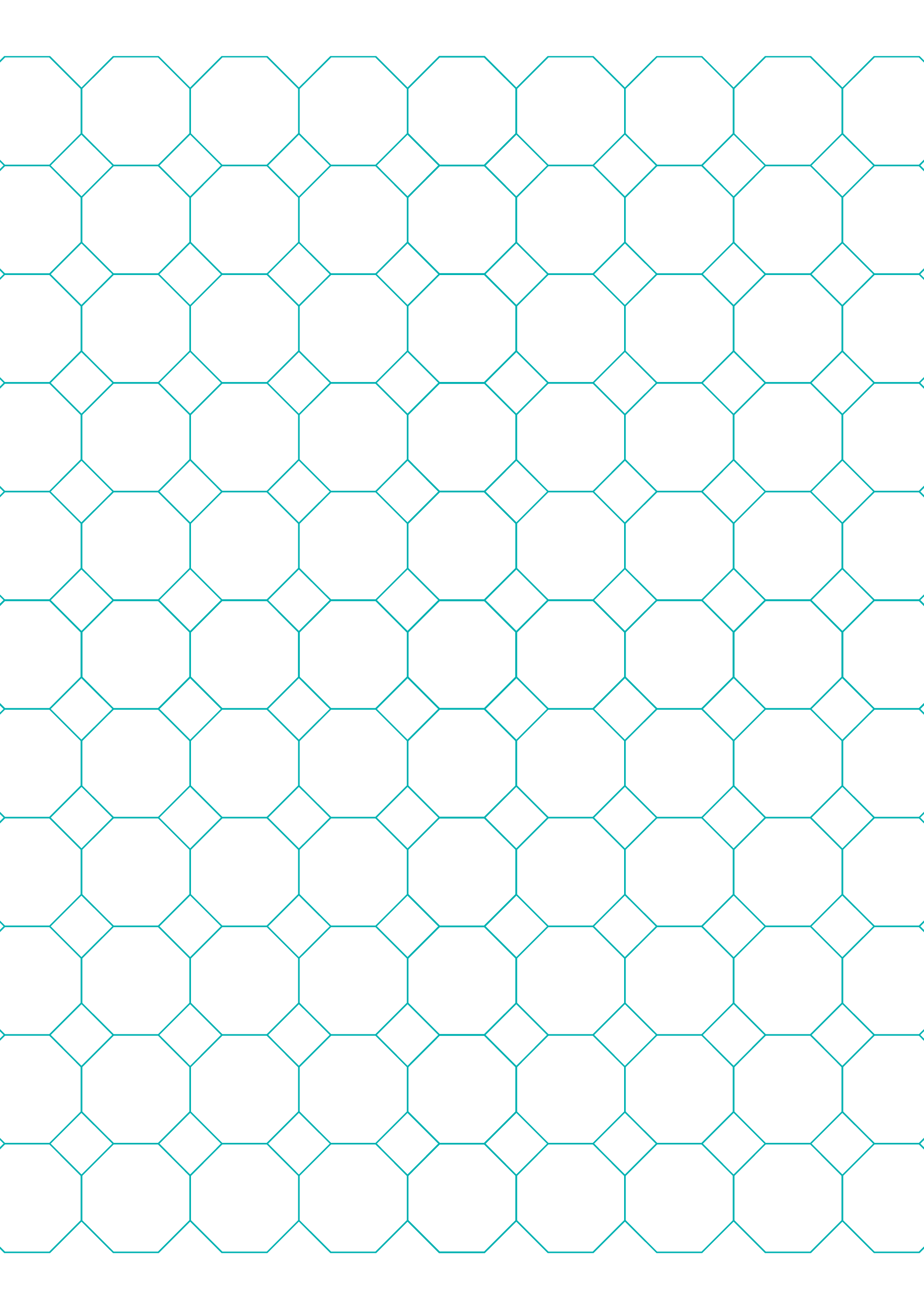 Octagon Graph Paper with 1Inch Spacing on LetterSized Paper Free – Octagon Graph Paper