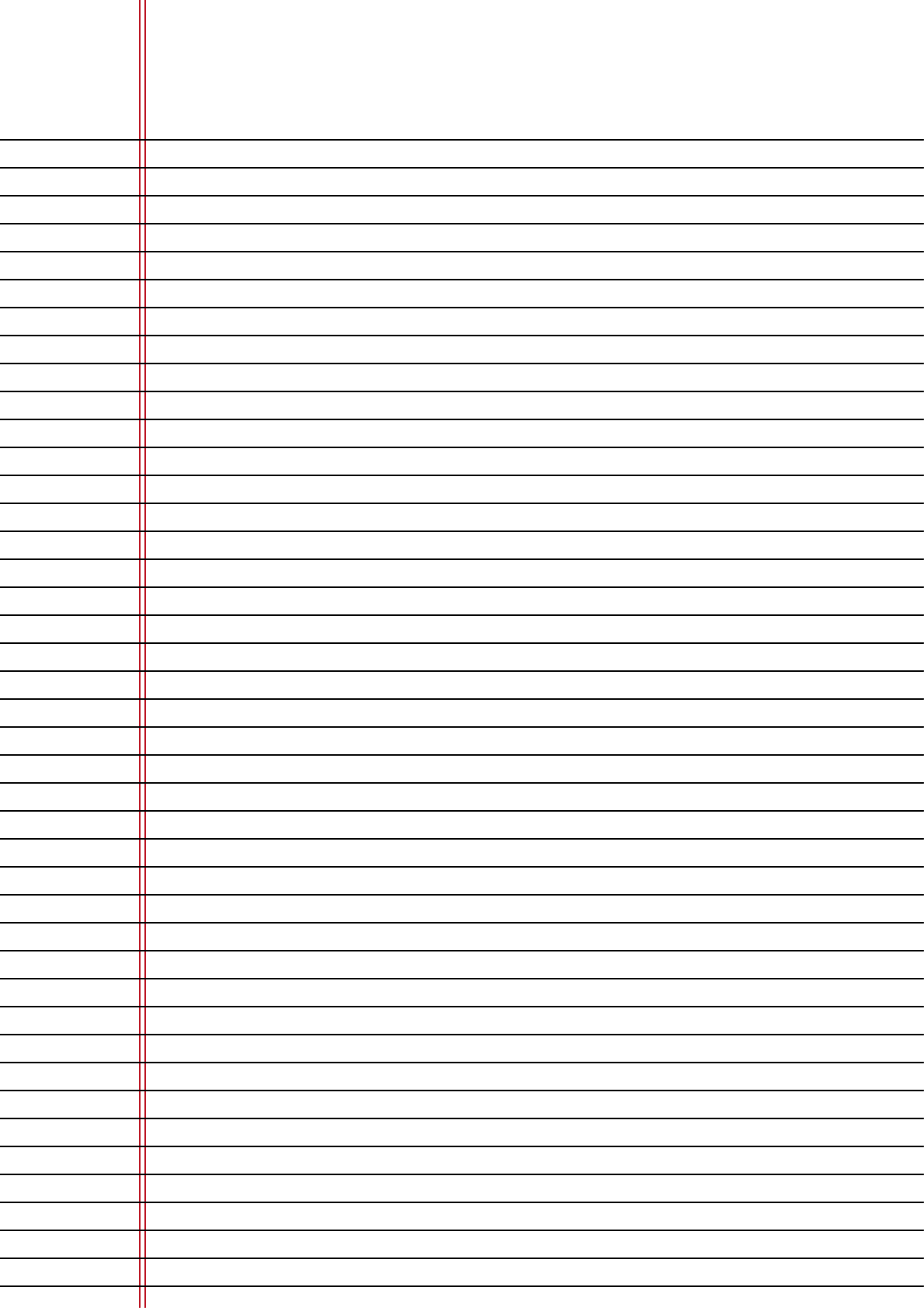 Narrow-Ruled Lined Paper on A4-Sized Paper in Portrait ...