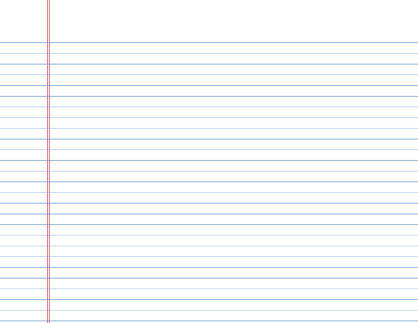 paper college ruled lines College ruled paper has lines that are spaced at 9/32 (71mm) between horizontal lines, and typically has 33 lines per page.