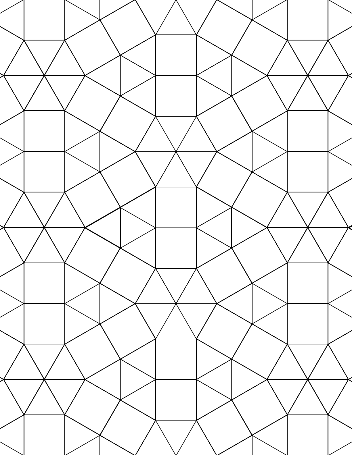 tessellation graph paper  3 3 3 3 3 3 3 3 4 3 4  free download