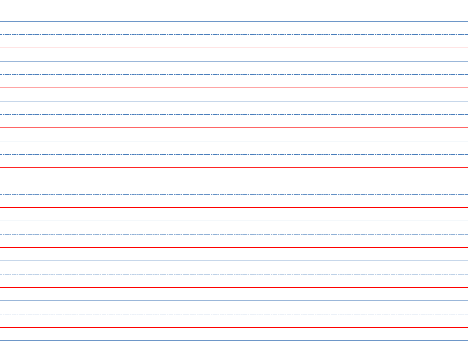 printable writing paper with lines for kindergarten This paper has a page of lines with dashed center guide lines as an aid for improving penmanship it's great for practicing letters or sentences, or even for writing a story best of all, you can print as much or as little as you need.