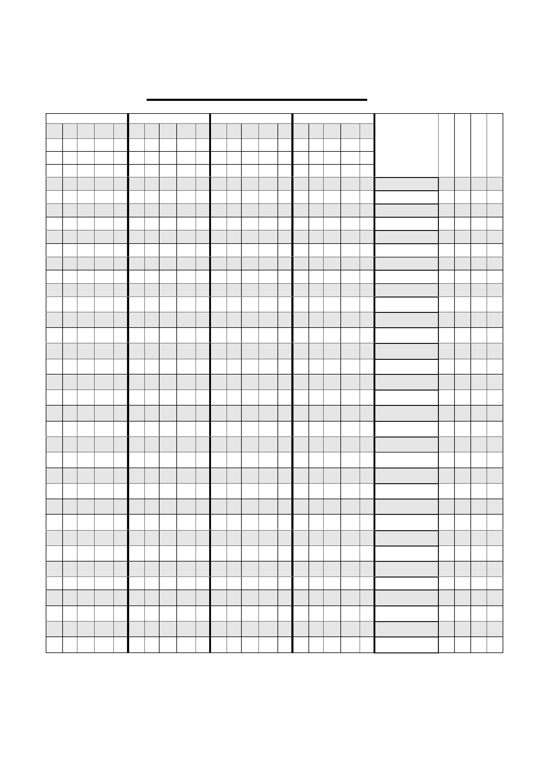 class attendance paper  with space for names  free download