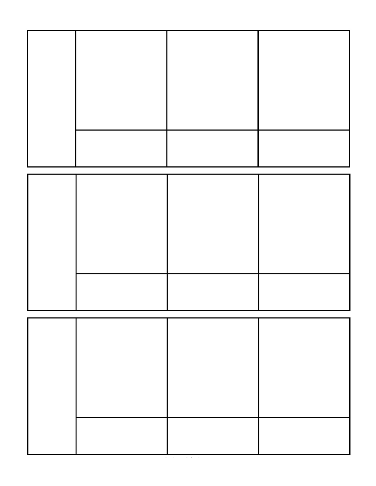 blank three panel comic template free download