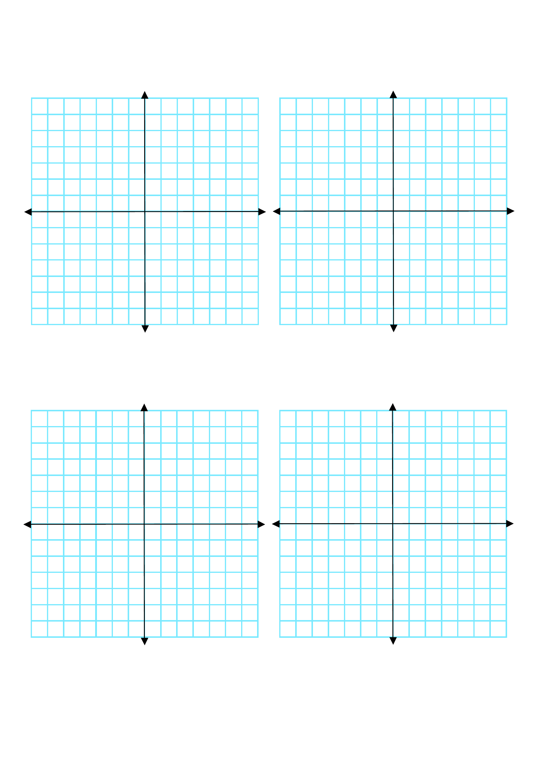multiple coordinate graphs 4