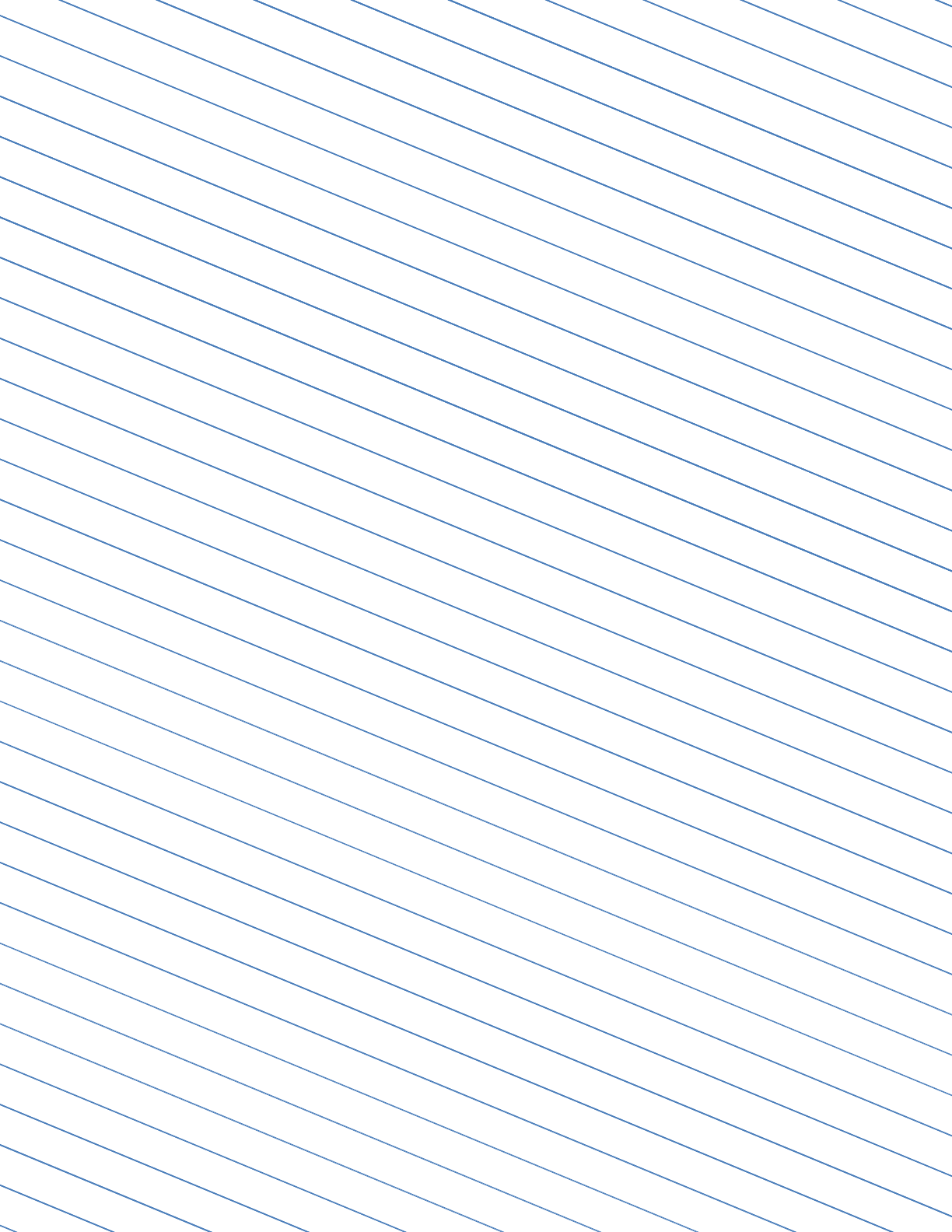 slant ruled paper with wide ruled left