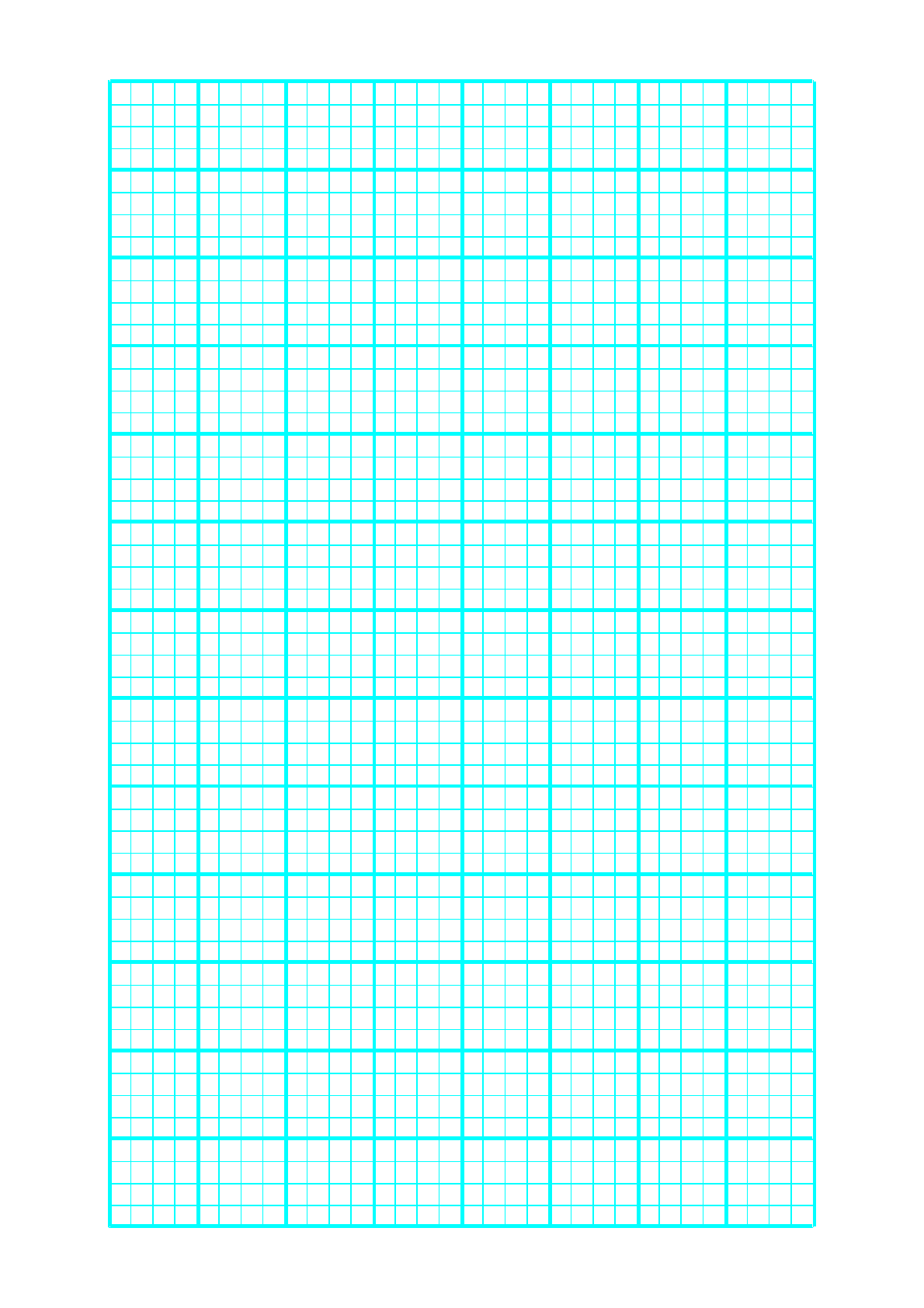 1 line every 5 mm graph paper on letter