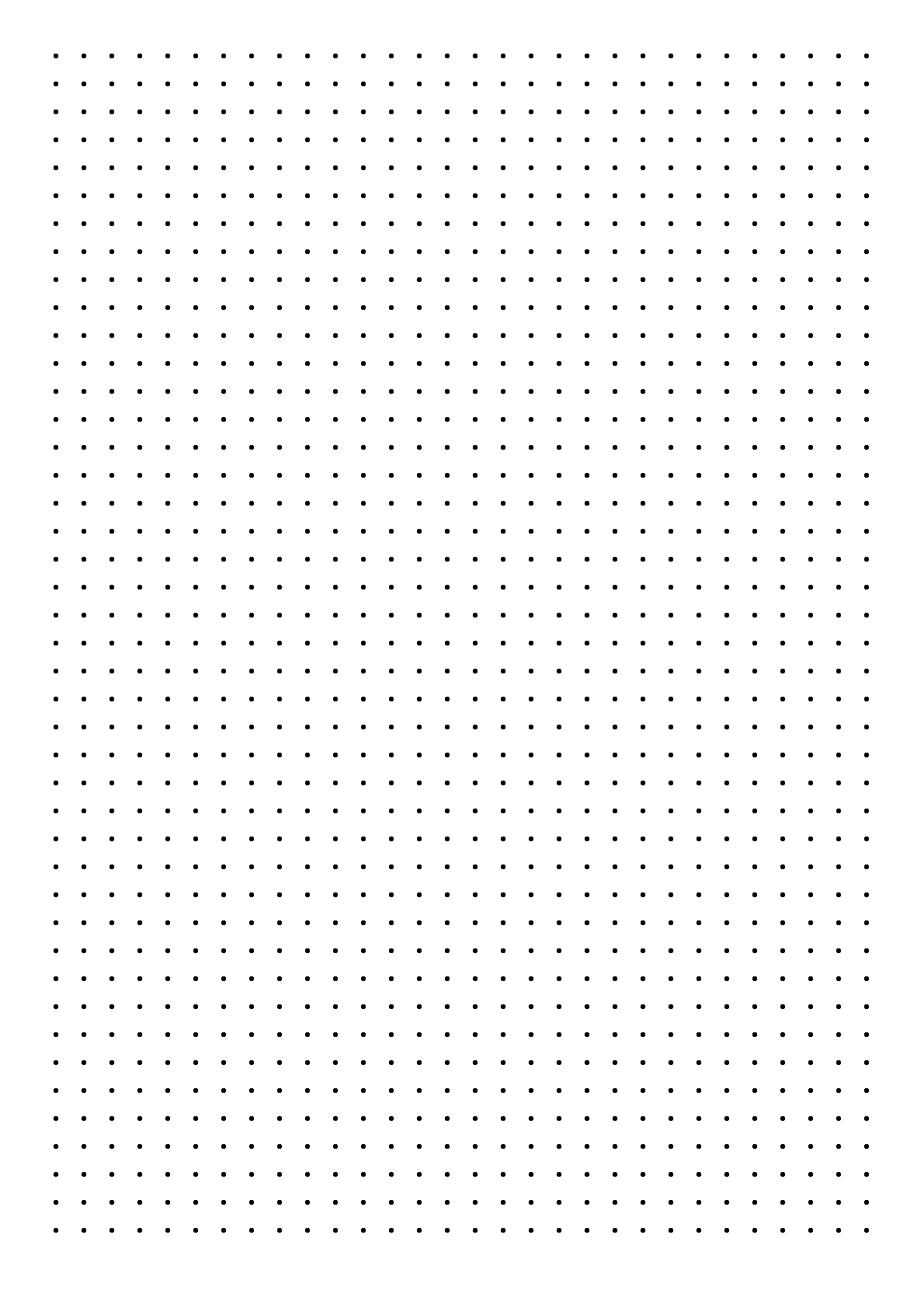 dot paper with four dots per inch on a4