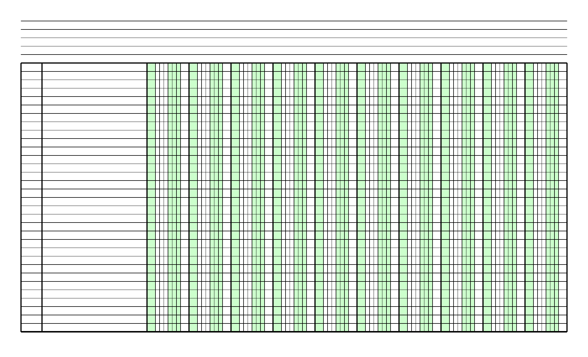 blank columnar paper with two columns on legal