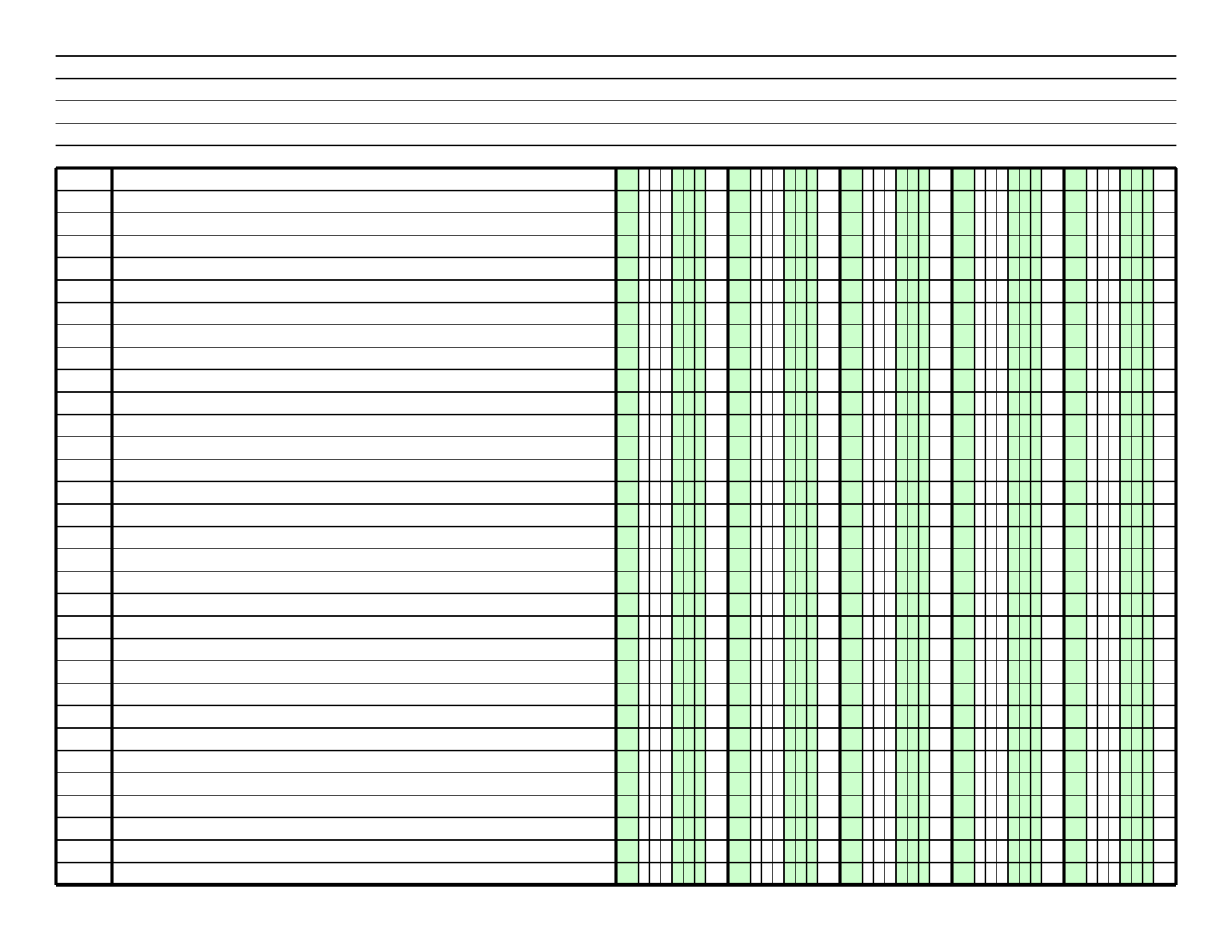 graphic relating to Printable Columnar Paper named Columnar Paper with 5 Columns upon Letter-Sized Paper within just