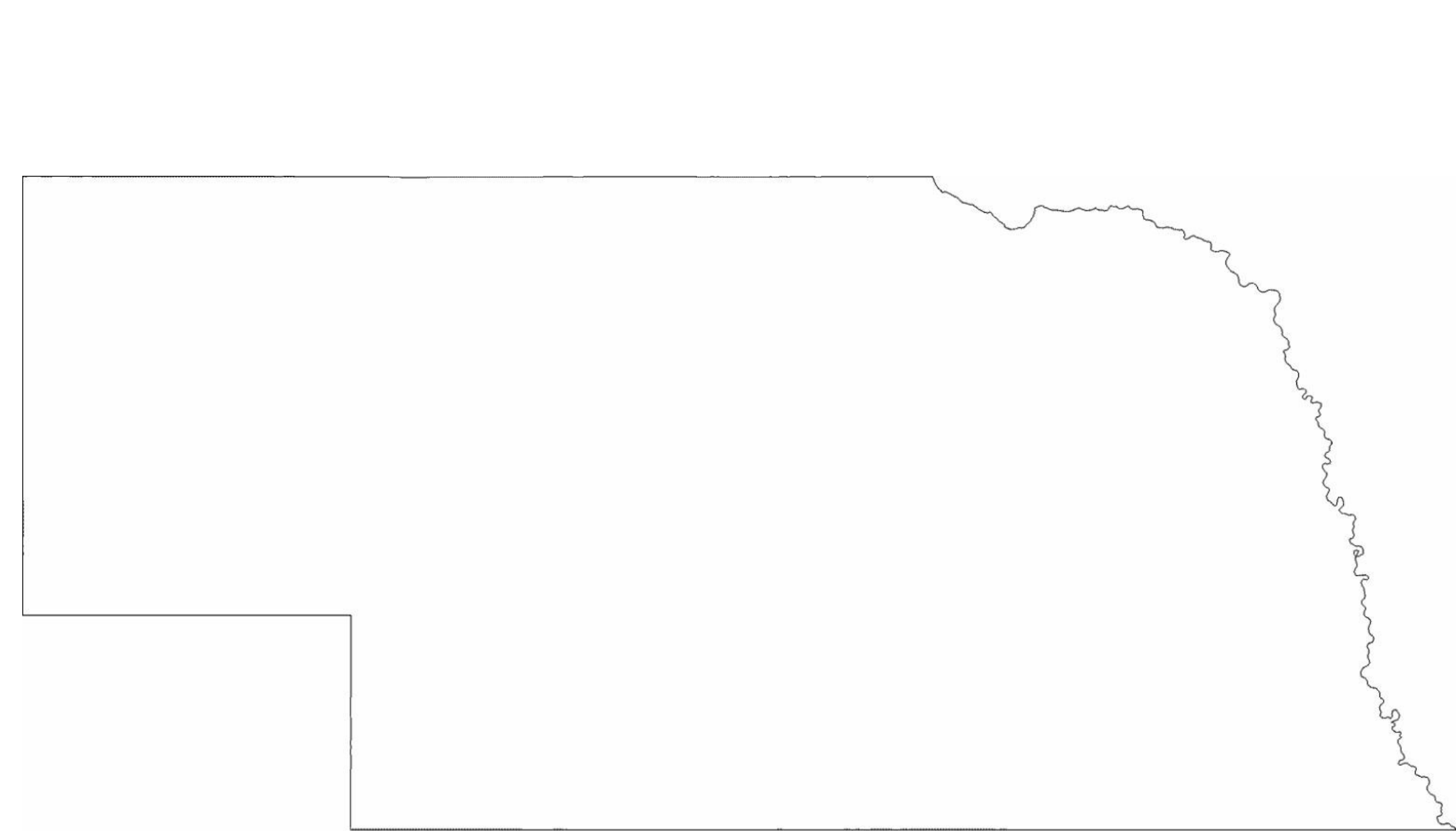 nebraska state outline map free download