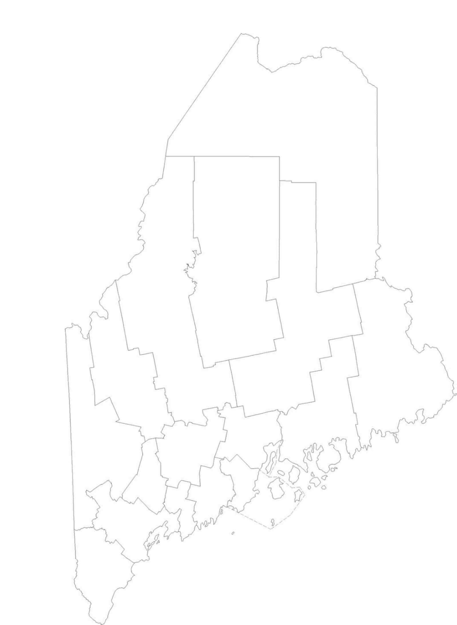 blank maine county map free download