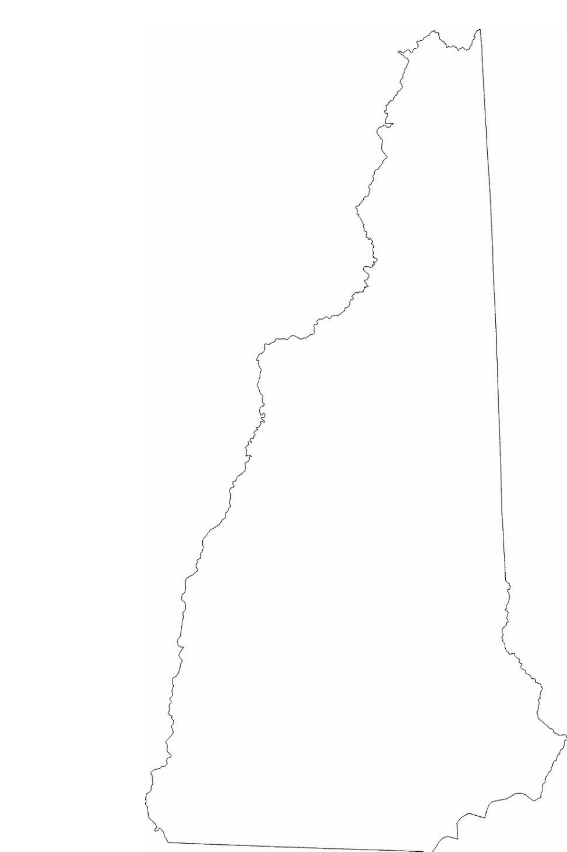 New Hampshire State Outline Map Free Download