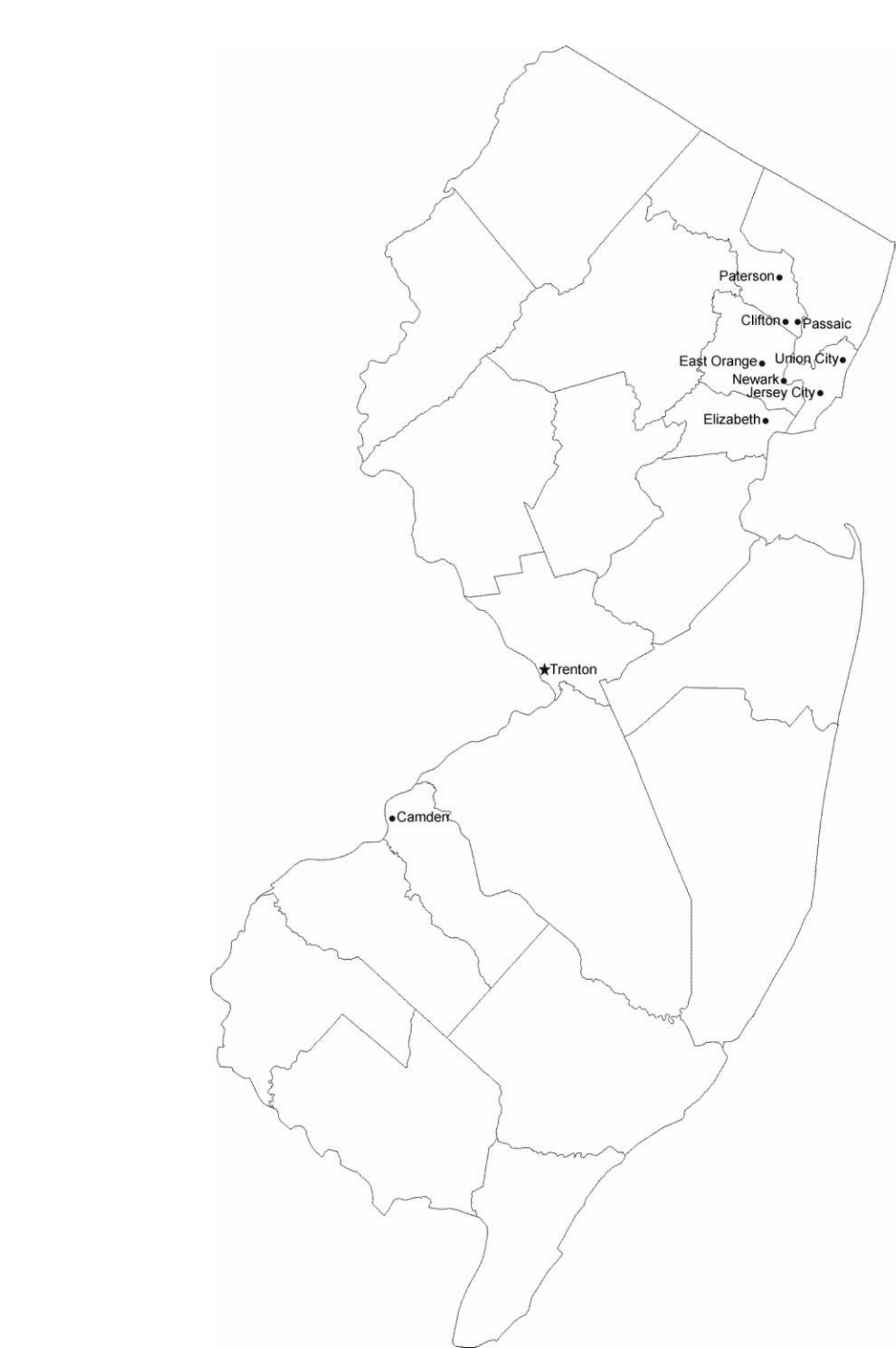map of new jersey cities with city names free download
