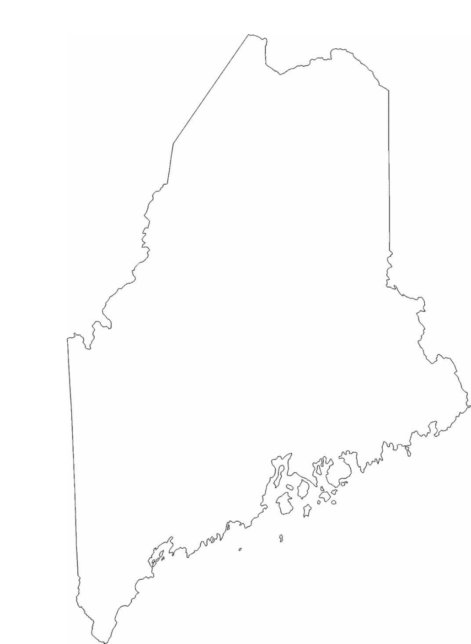 Maine State Outline Map Free Download