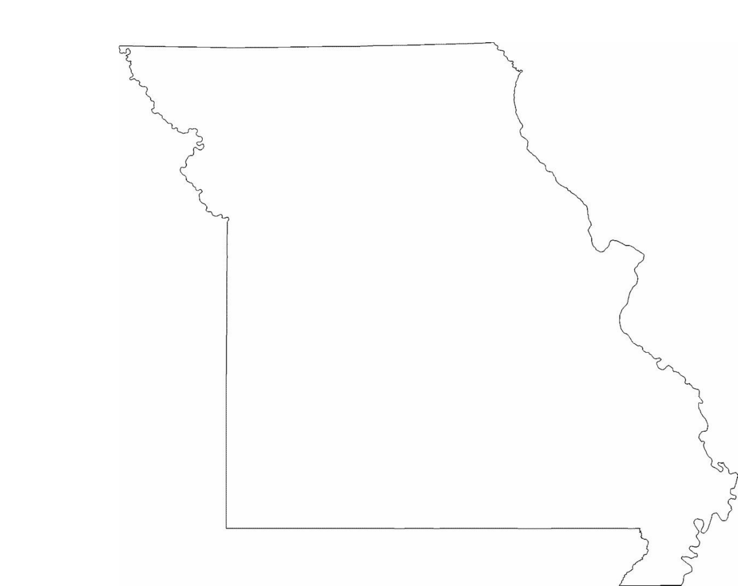 Missouri State Outline Map Free Download