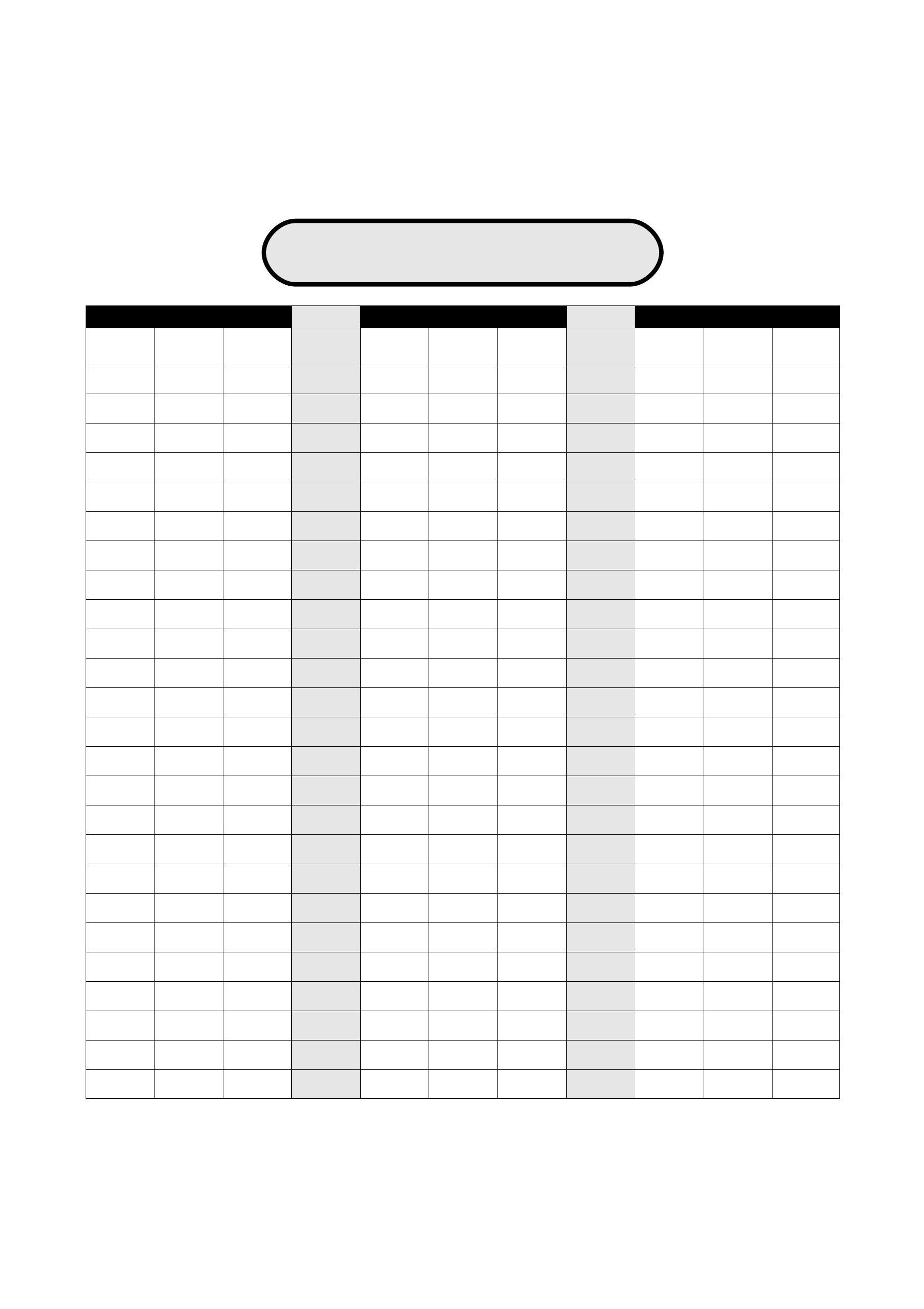 Blank Place Value Chart Free Download