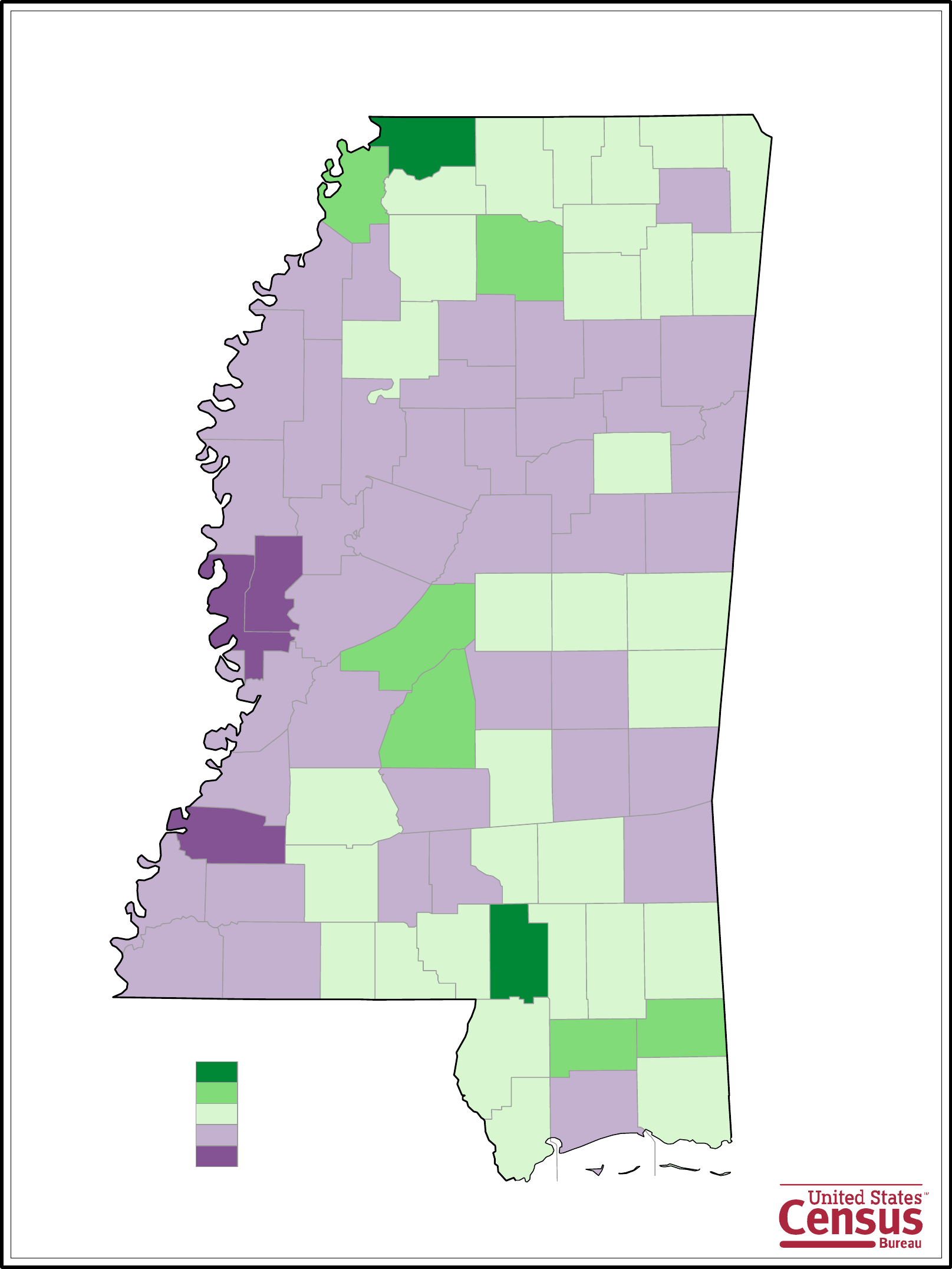 mississippi county population change map free download