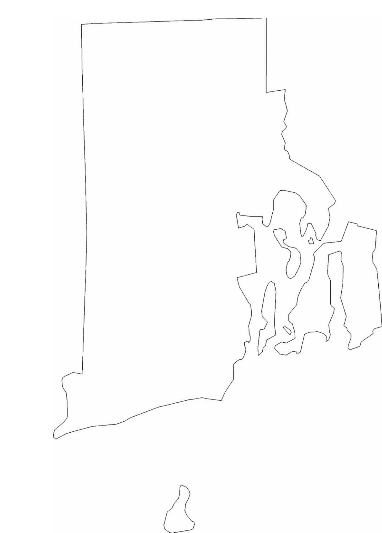 rhode island state outline map free download