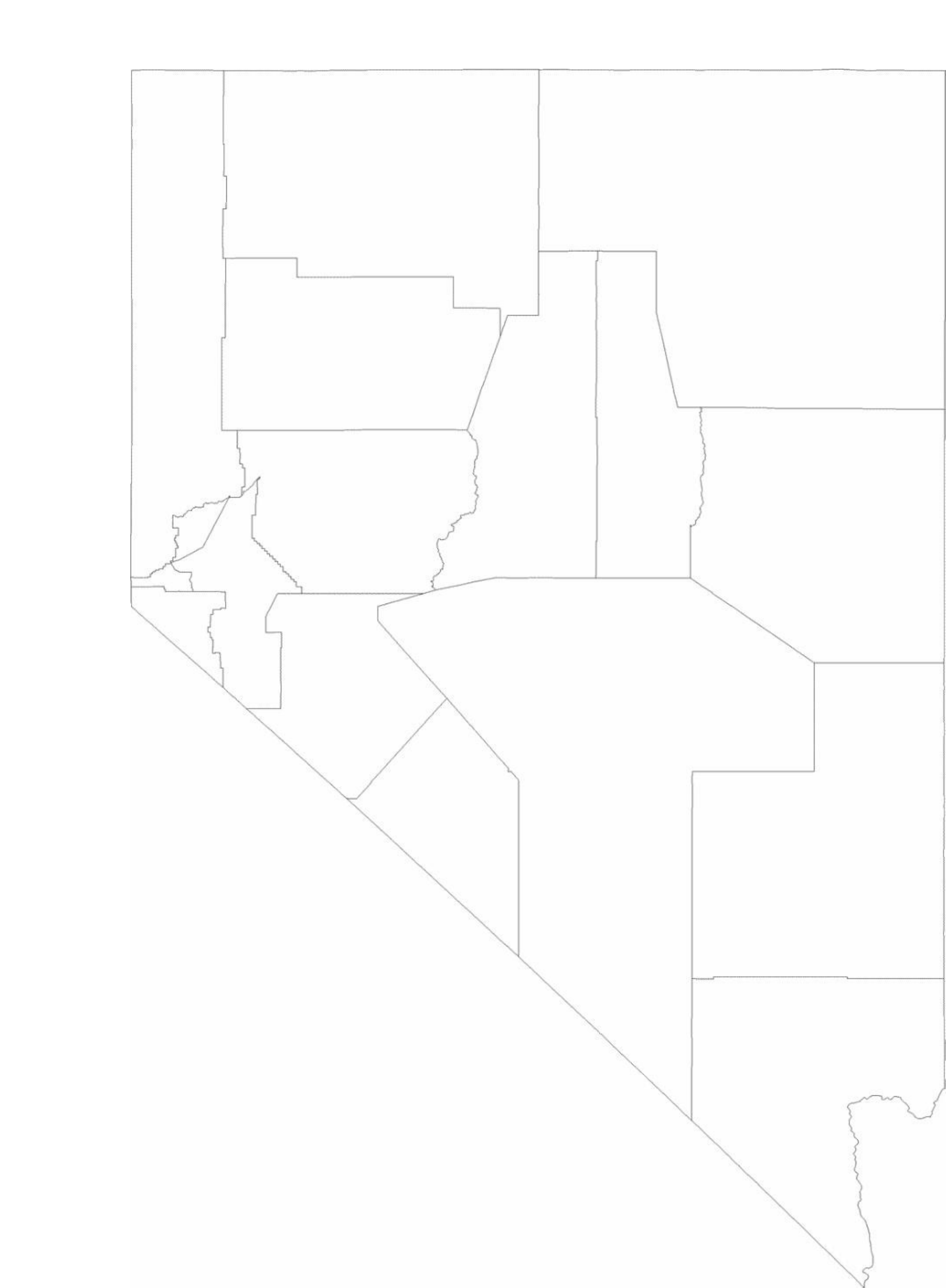 Blank Nevada County Map Free Download