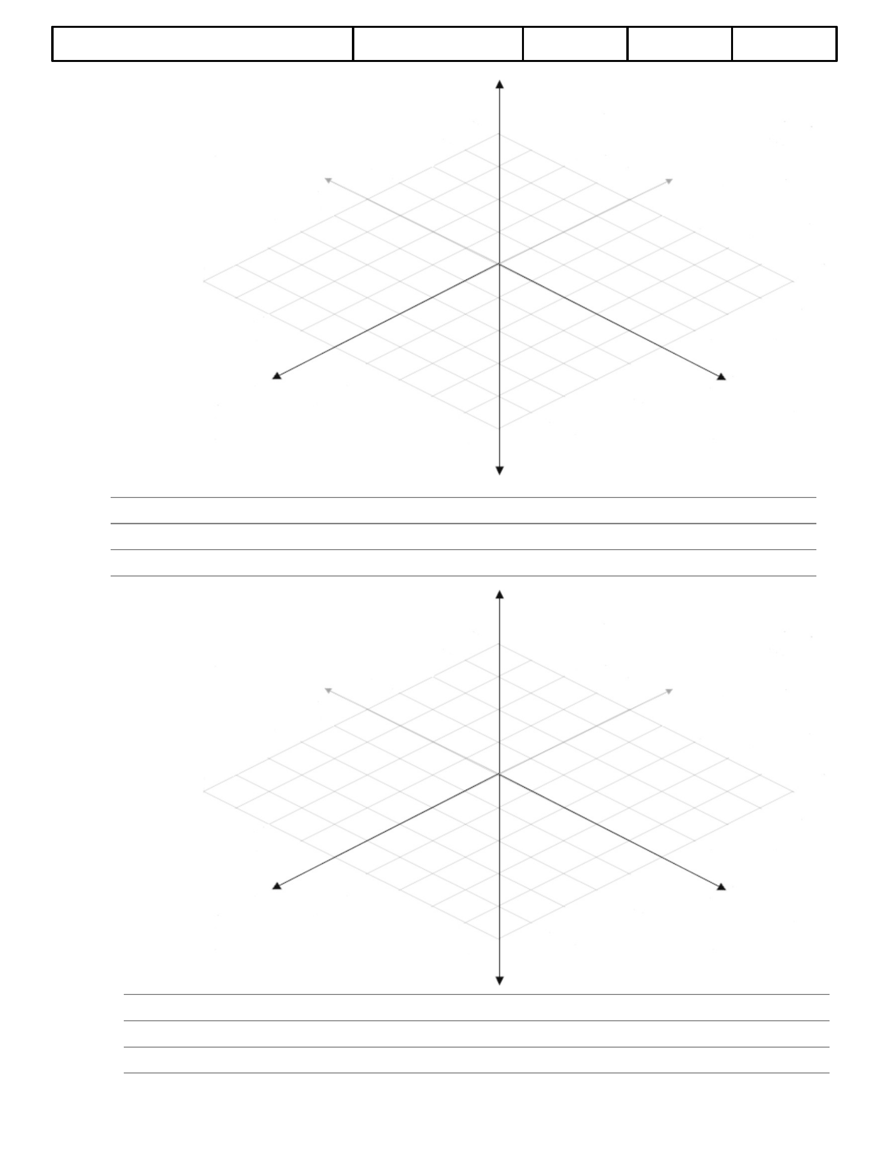 3D Graph Paper Template Example Free Download