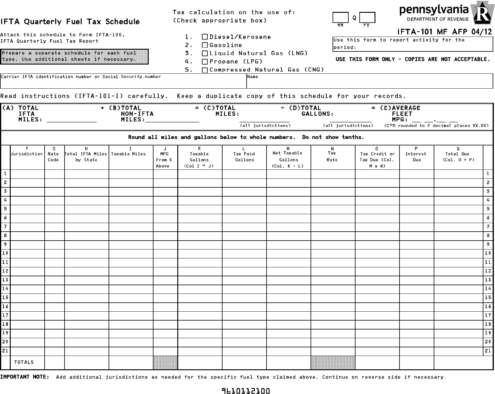 All personnel report form page 7