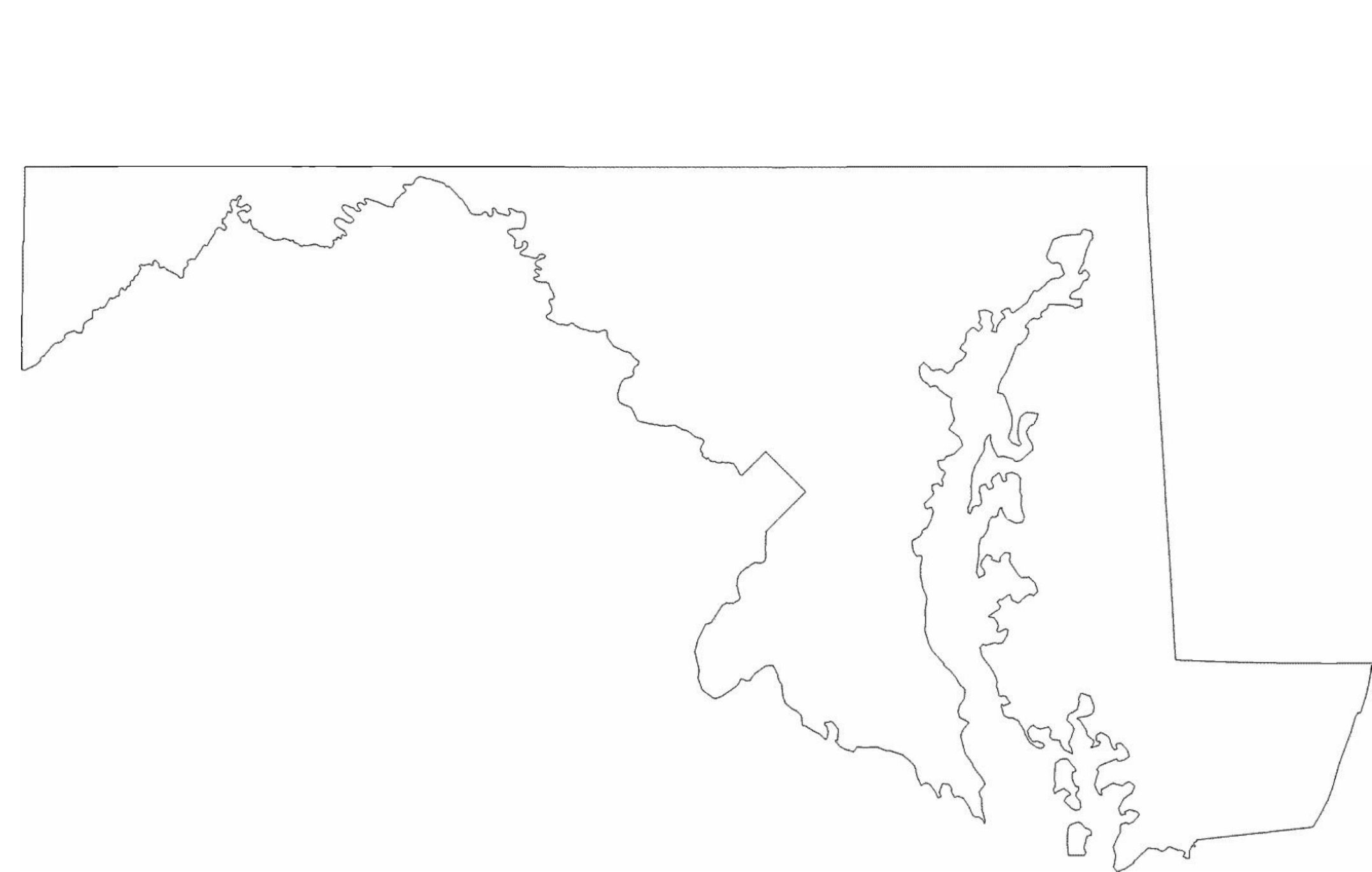 Geography Blog Maryland Outline Maps - Us map with states blank outline