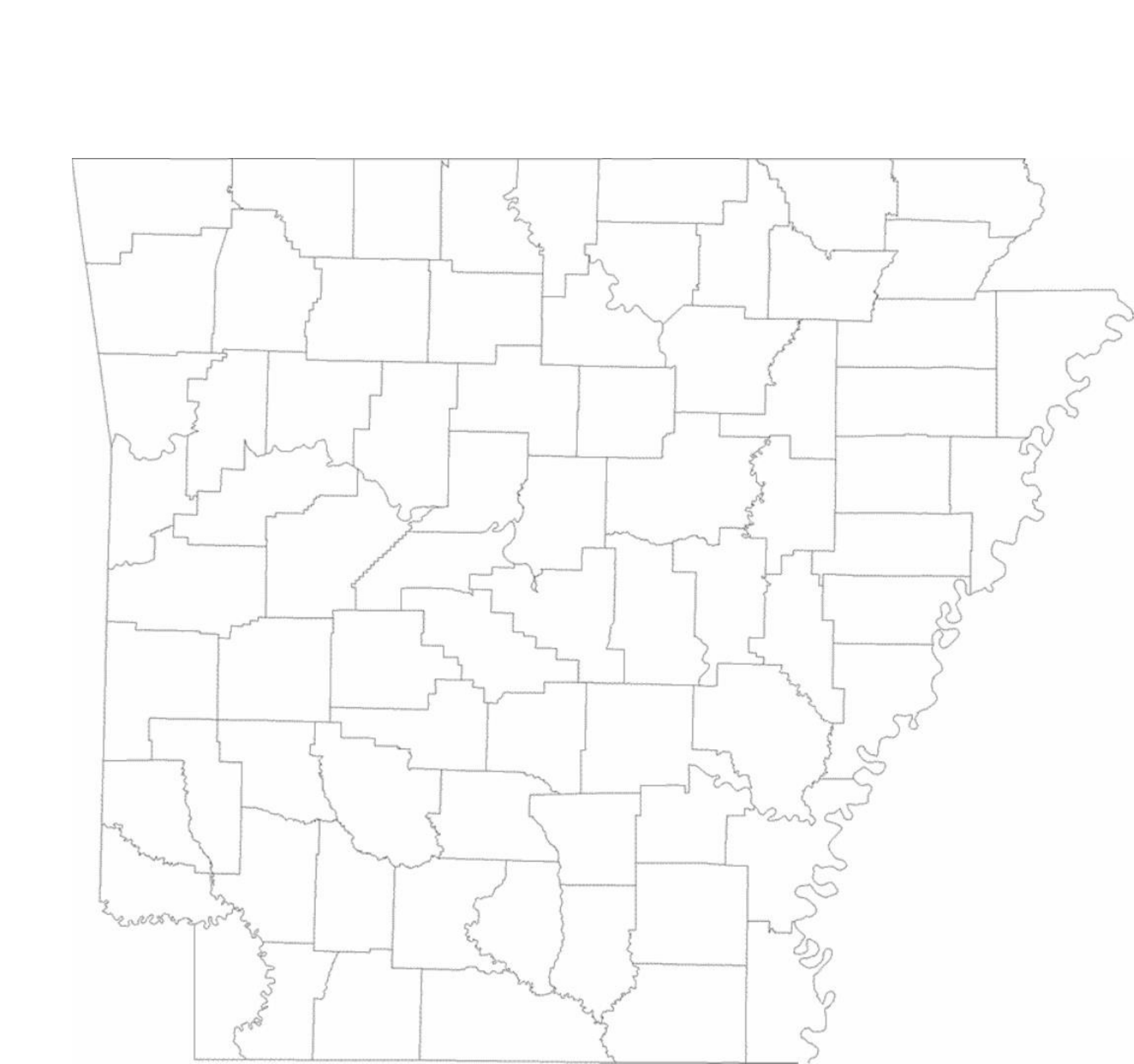 blank arkansas county map free download