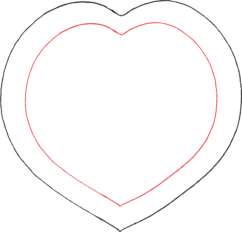 Heart template sample free download for Hexahexaflexagon template