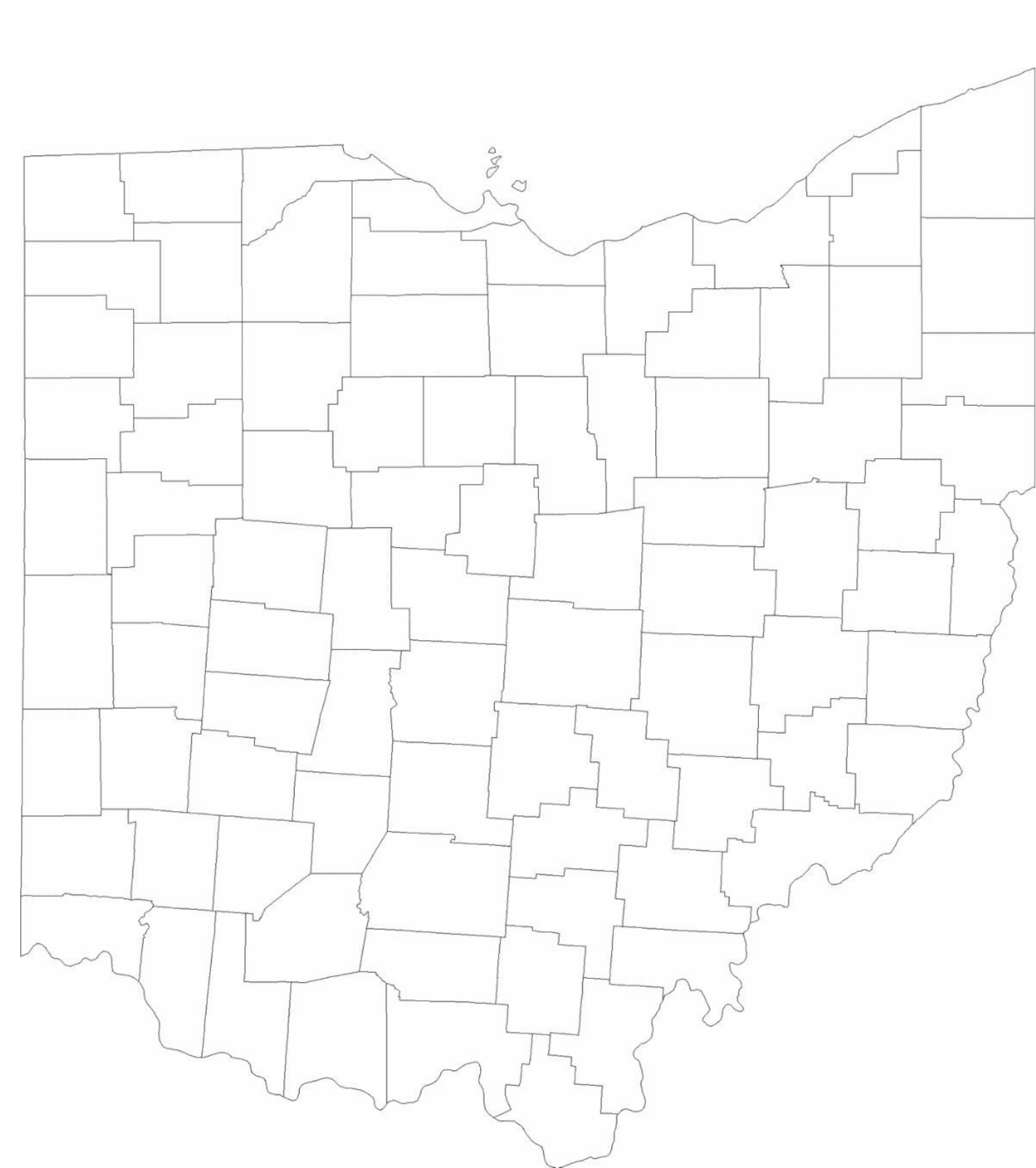blank ohio county map free download