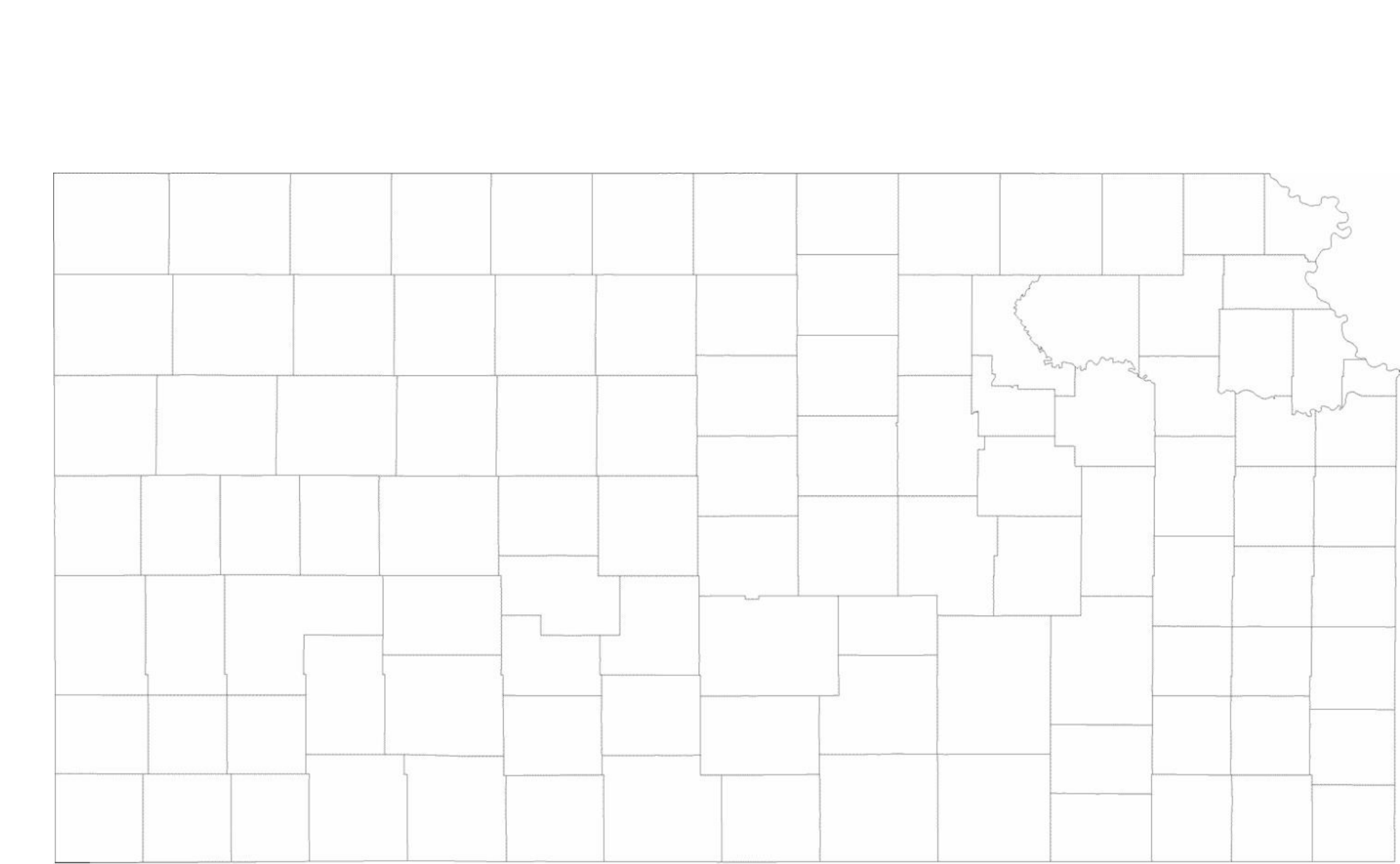 graphic regarding Kansas County Map Printable named Blank Kansas County Map No cost Obtain
