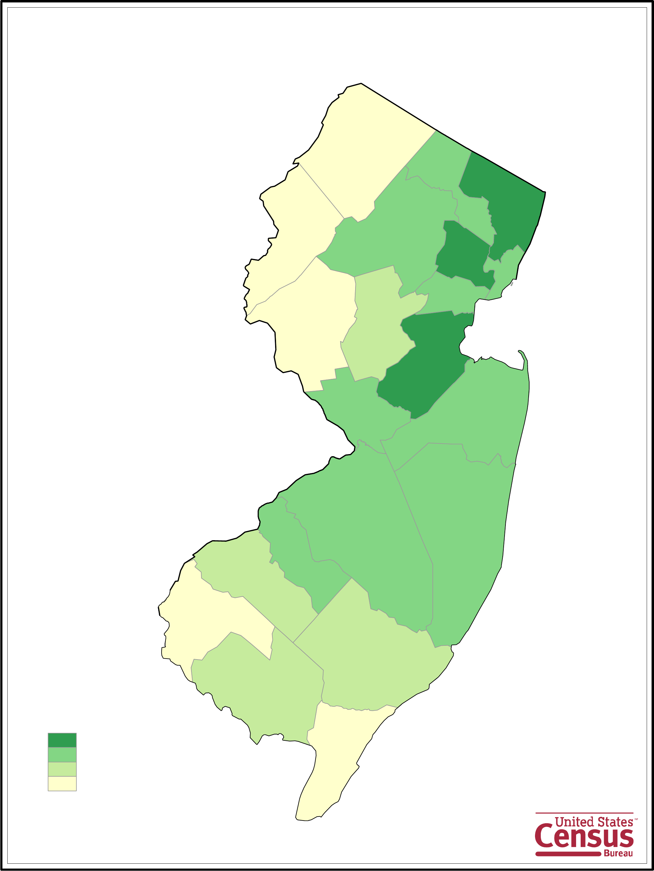 New Jersey County Population Map Free Download