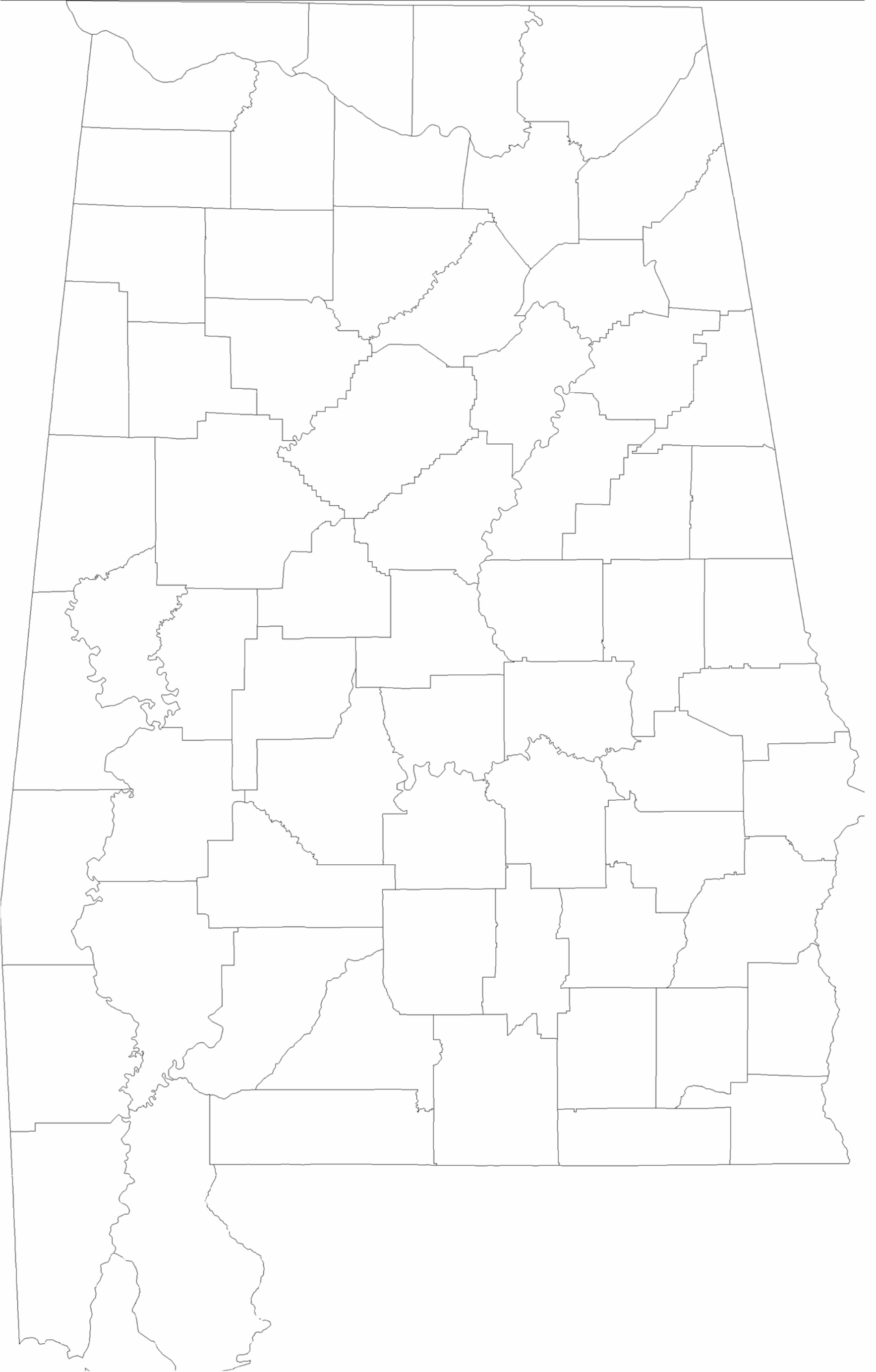 blank alabama county map free download