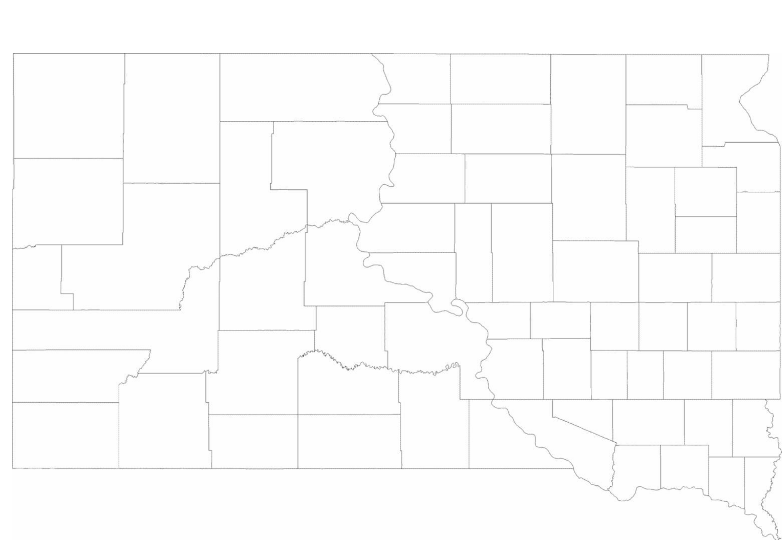 graphic regarding South Dakota County Map Printable known as Blank South Dakota County Map Free of charge Obtain