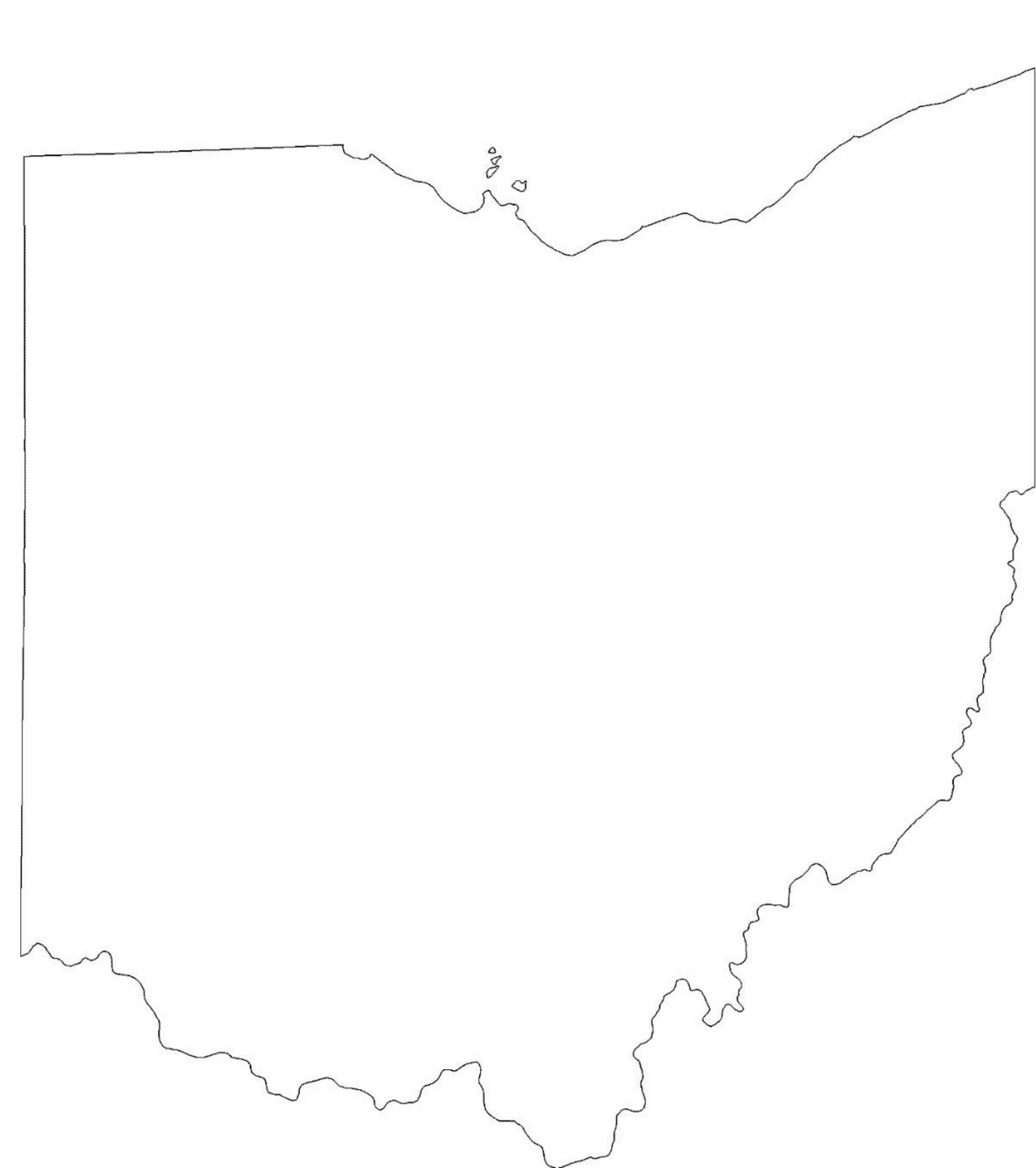 united state blank map with Free Ohio State Outline Map on Usa Canada Mexico Map together with Us Map With States Numbered further Louisiana Main Cities Map in addition Free Indiana State Outline Map besides Free Ohio State Outline Map.