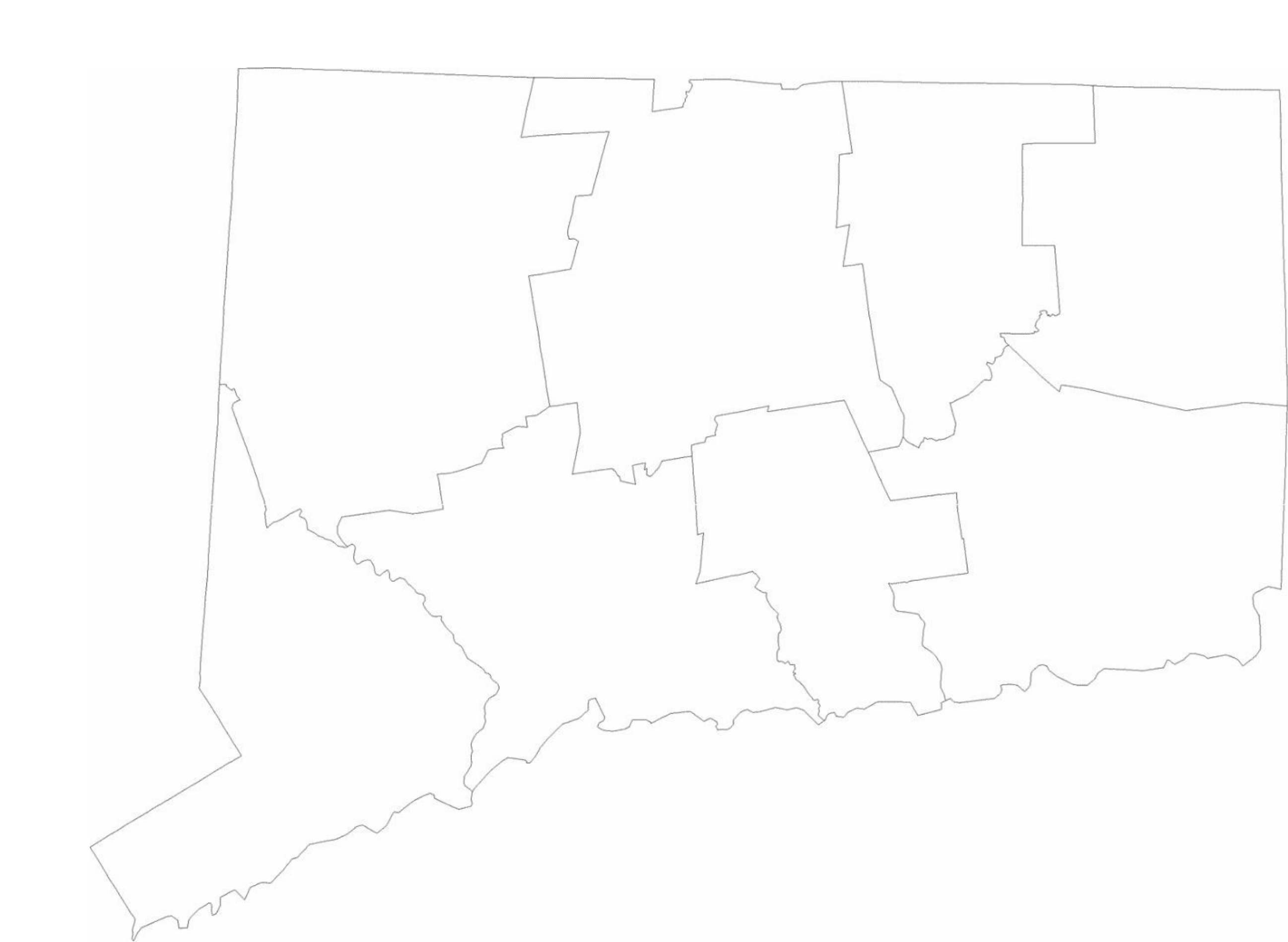 blank connecticut county map free download