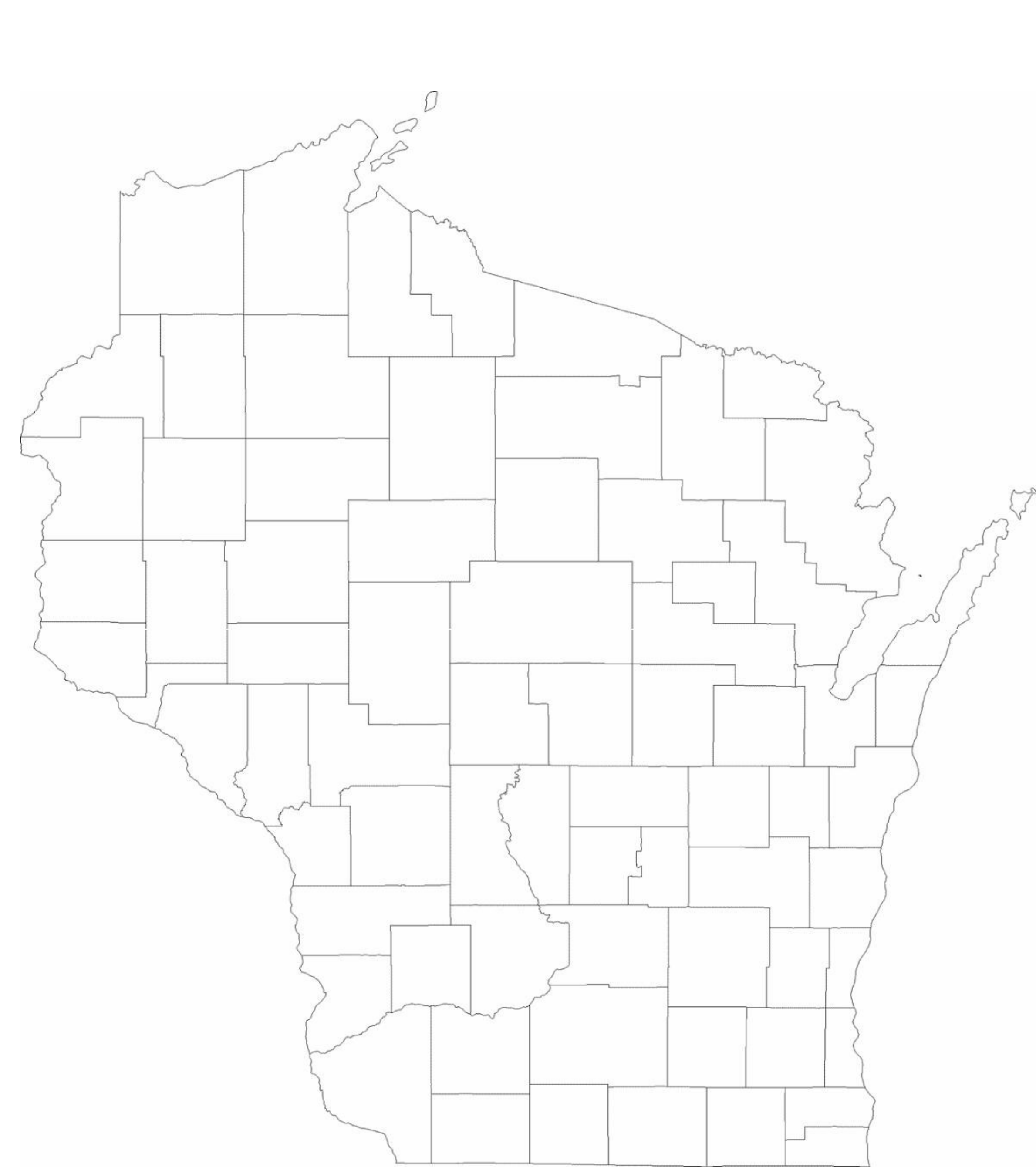 blank wisconsin county map free download