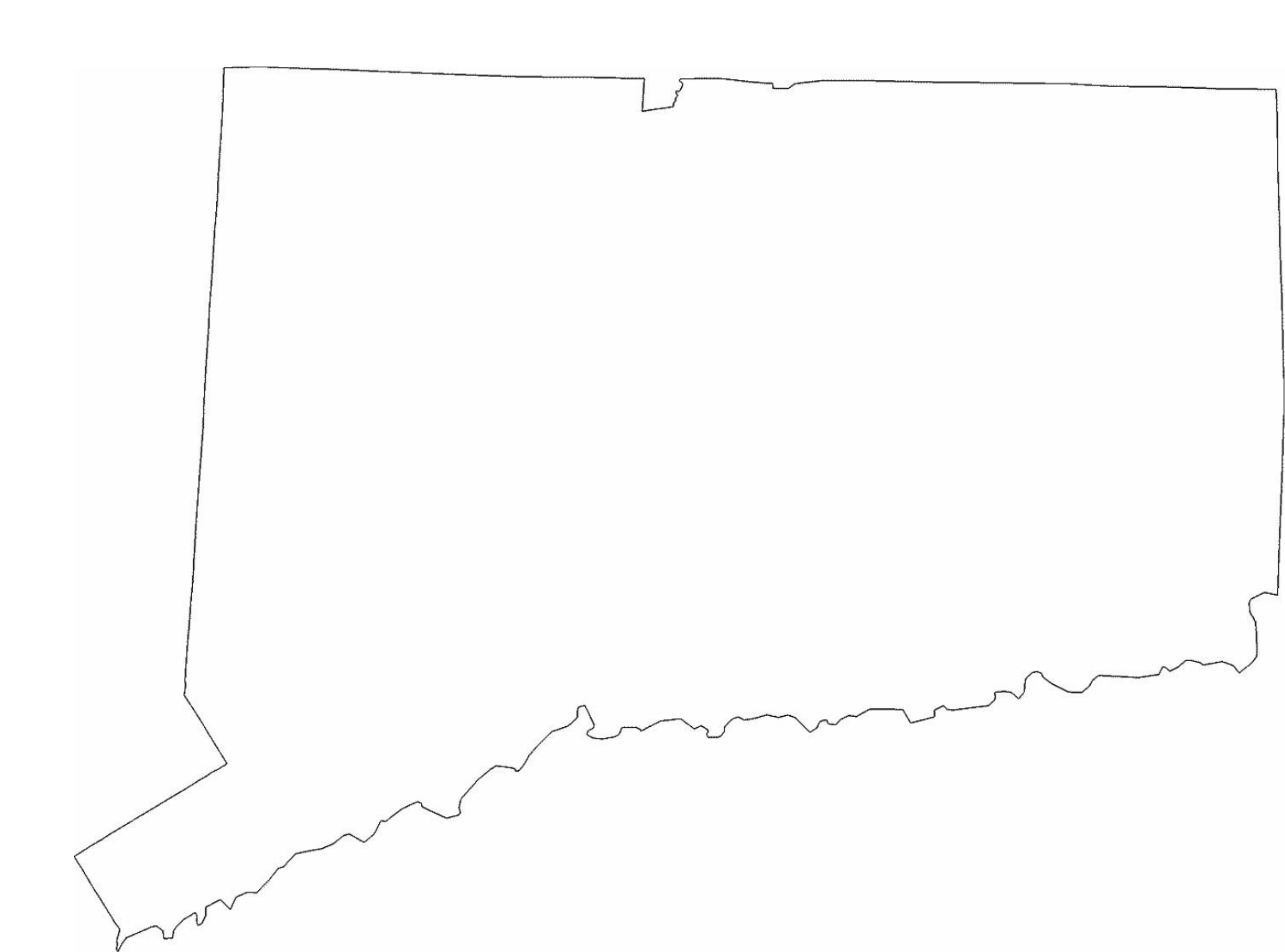 Connecticut State Outline Map Free Download