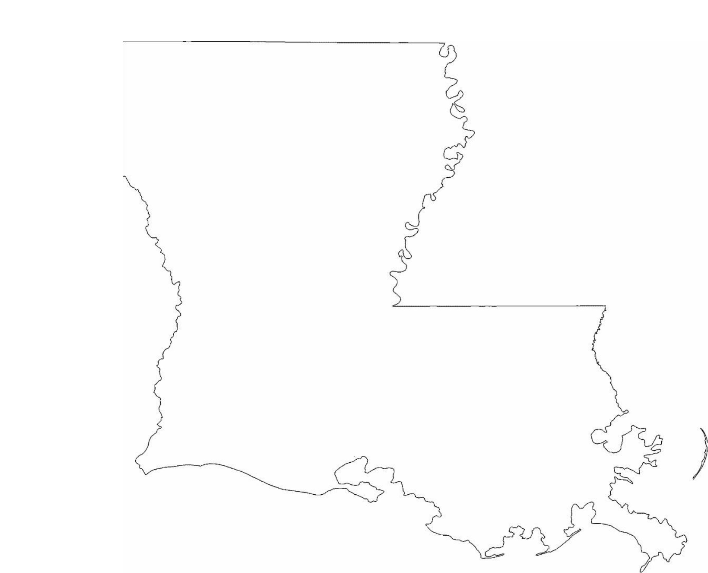 louisiana state outline map free download