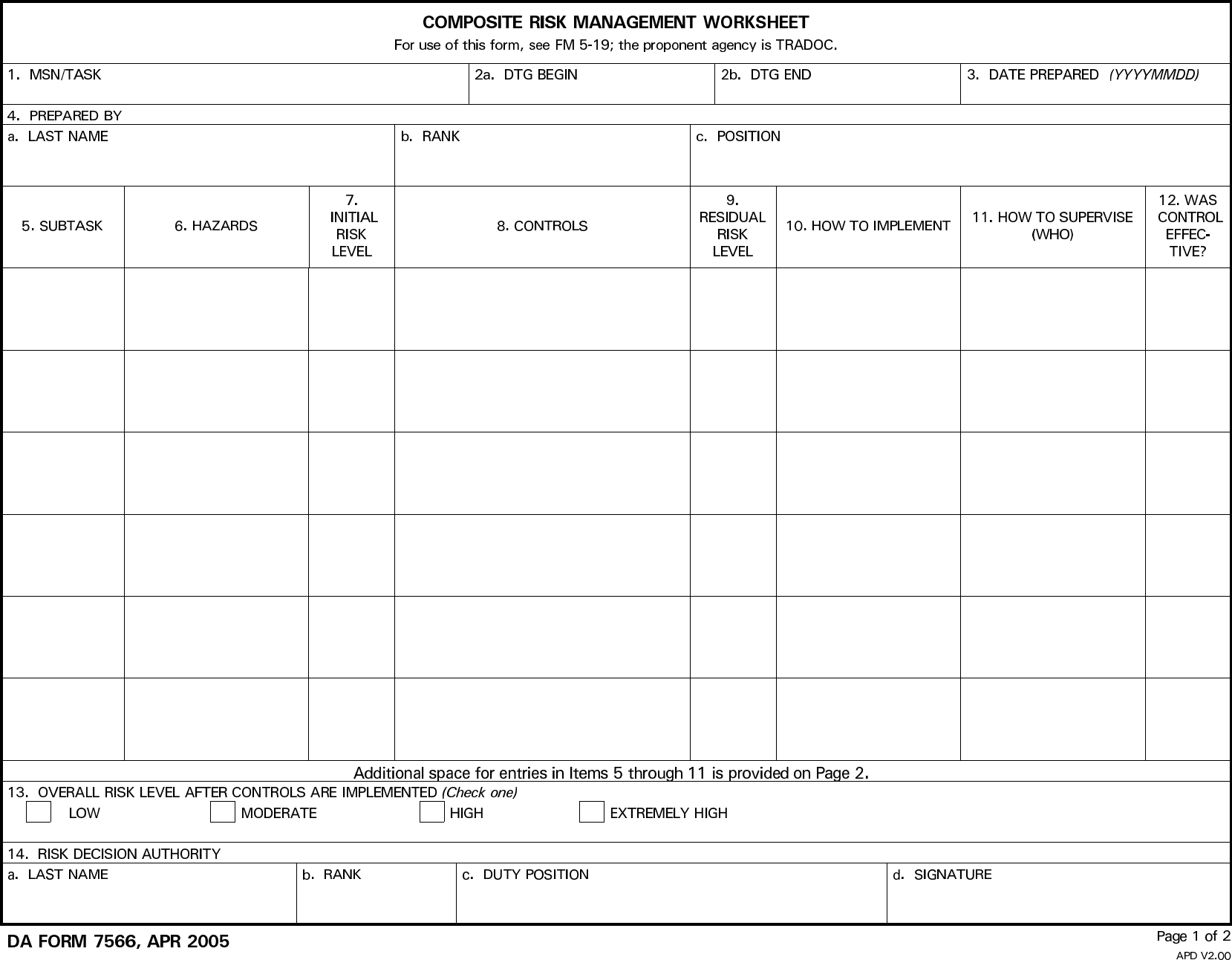 data center risk assessment template - composite risk management form template free download