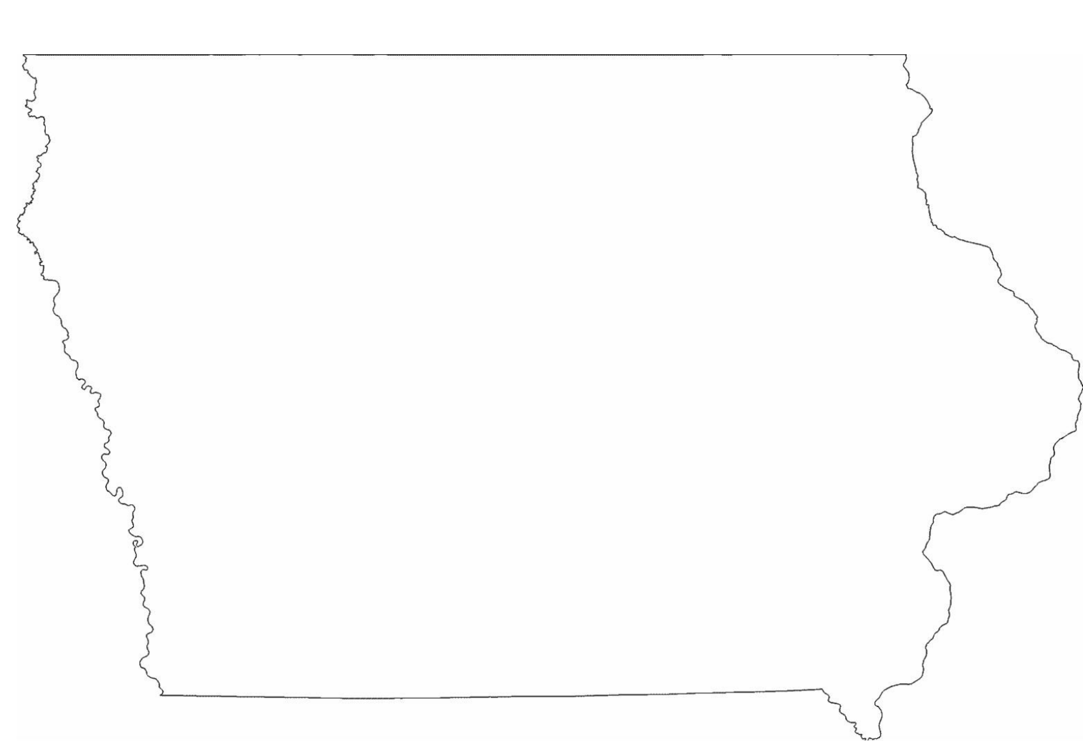 Iowa State Outline Map Free Download