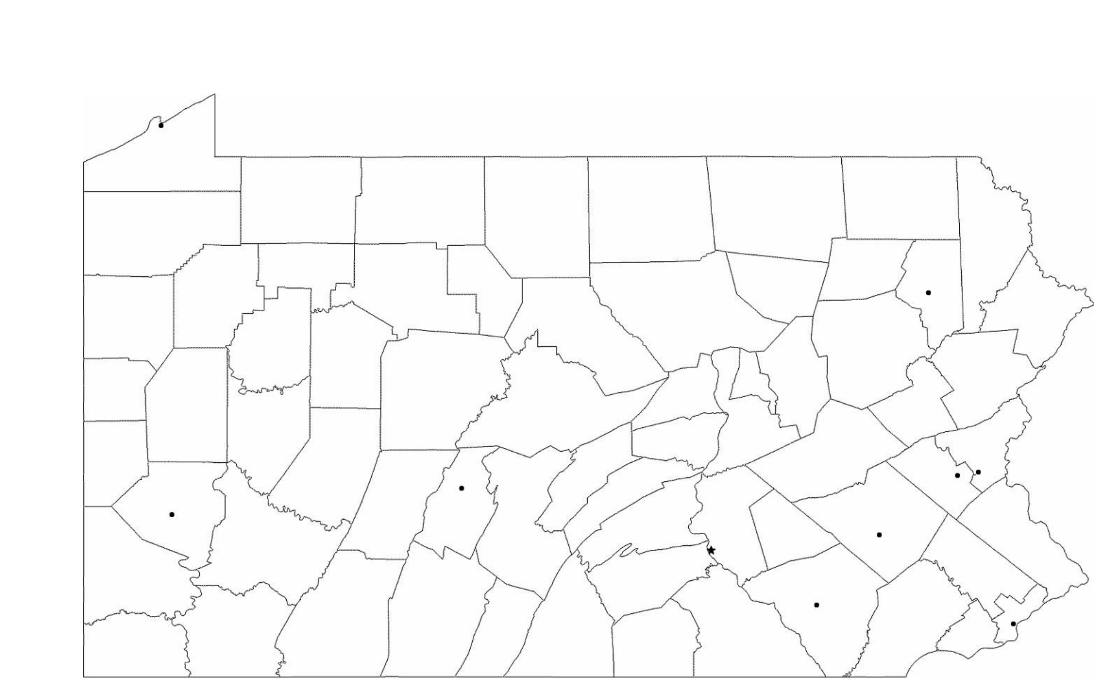 Image of: Blank Pennsylvania City Map Free Download