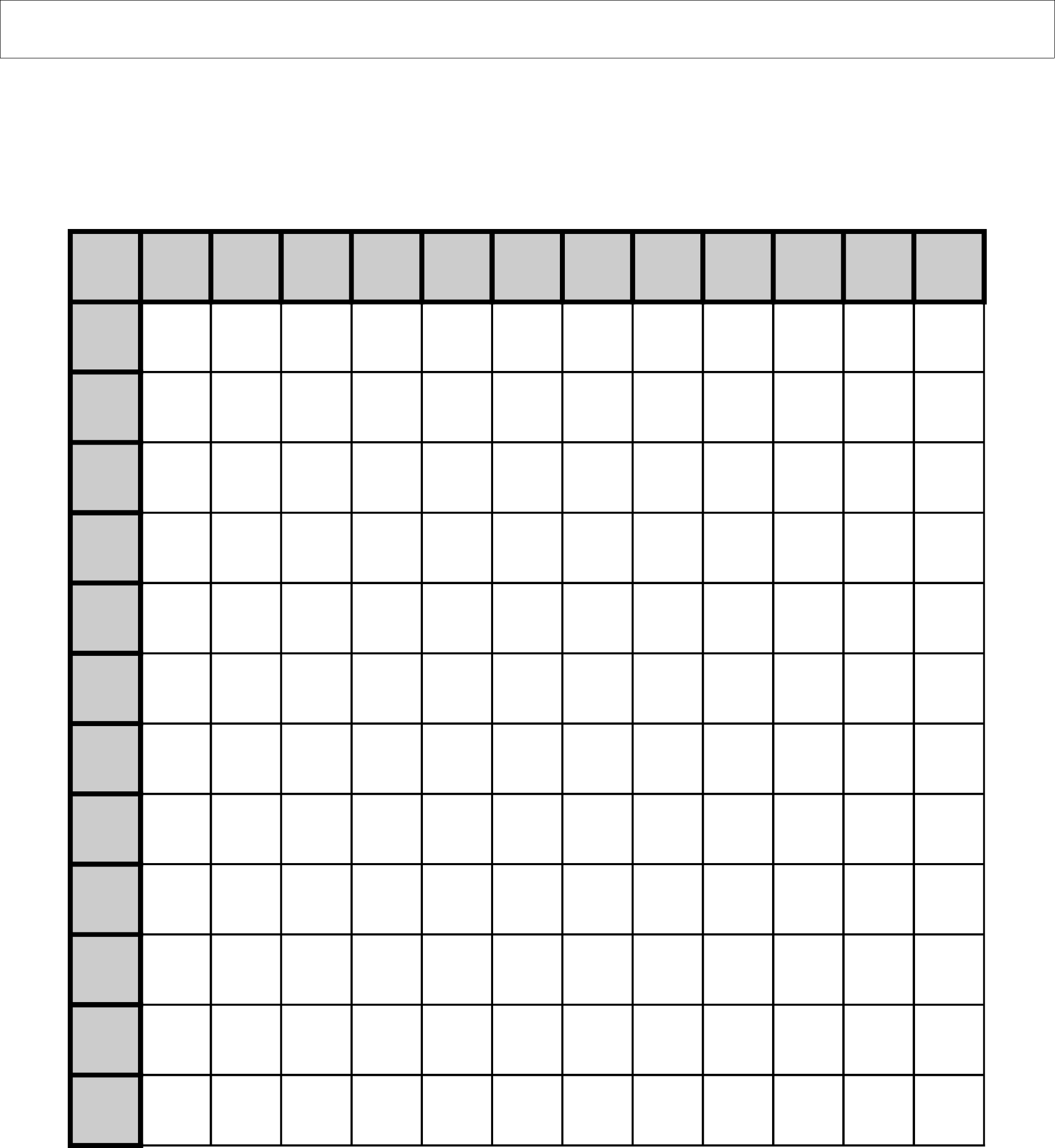 Multiplication Grid Worksheet Blank - Worksheets For Teachers