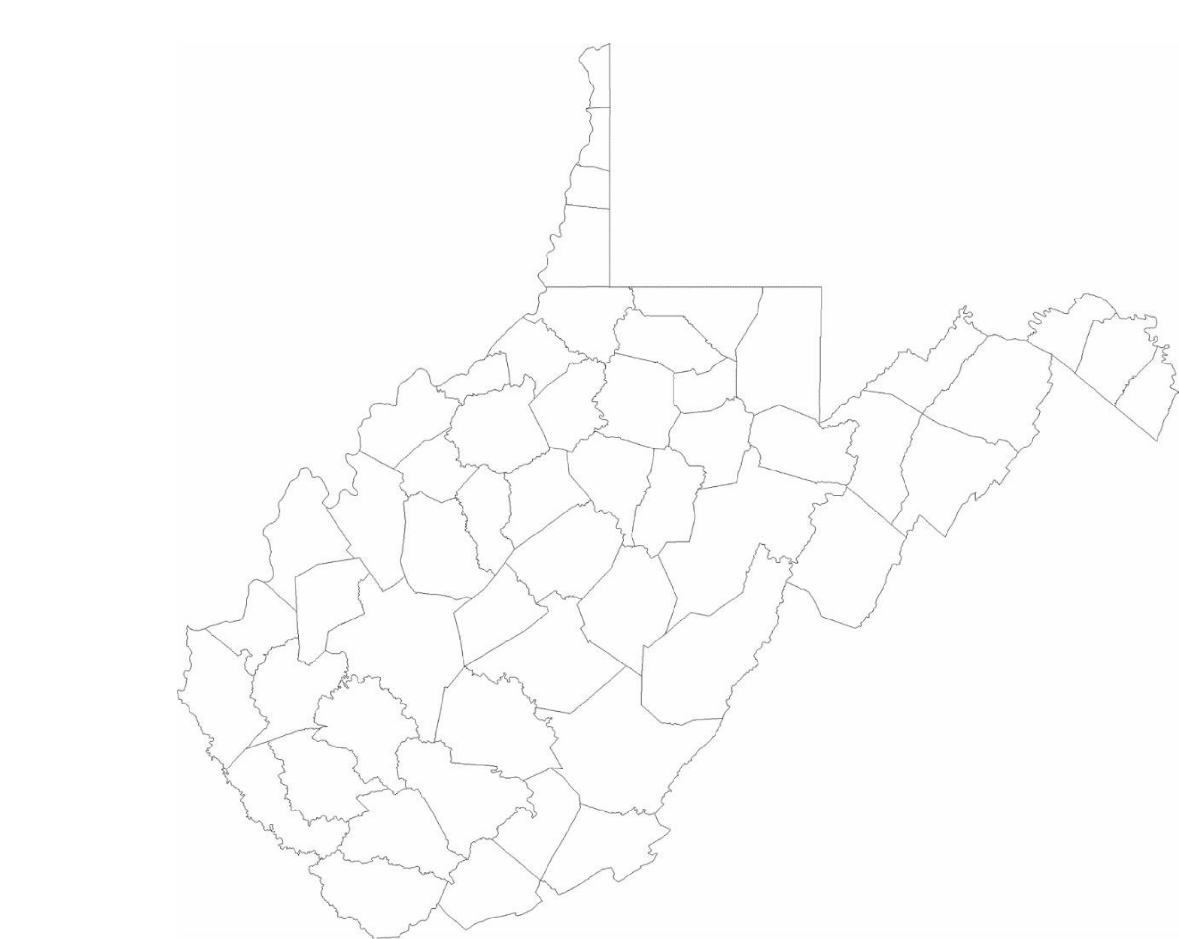 100 west virginia free map free blank map free outline map free