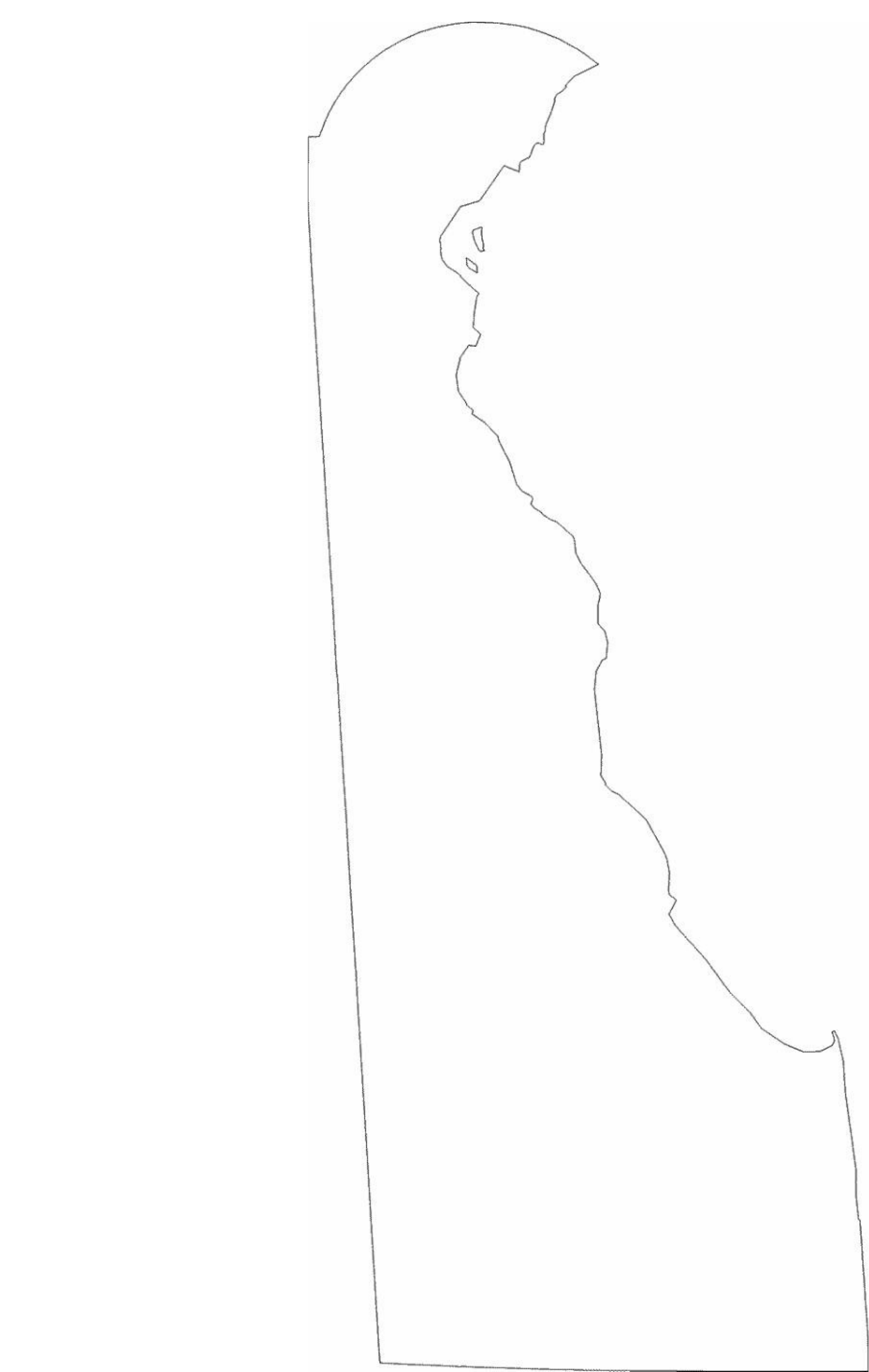 Delaware State Outline Map Free Download