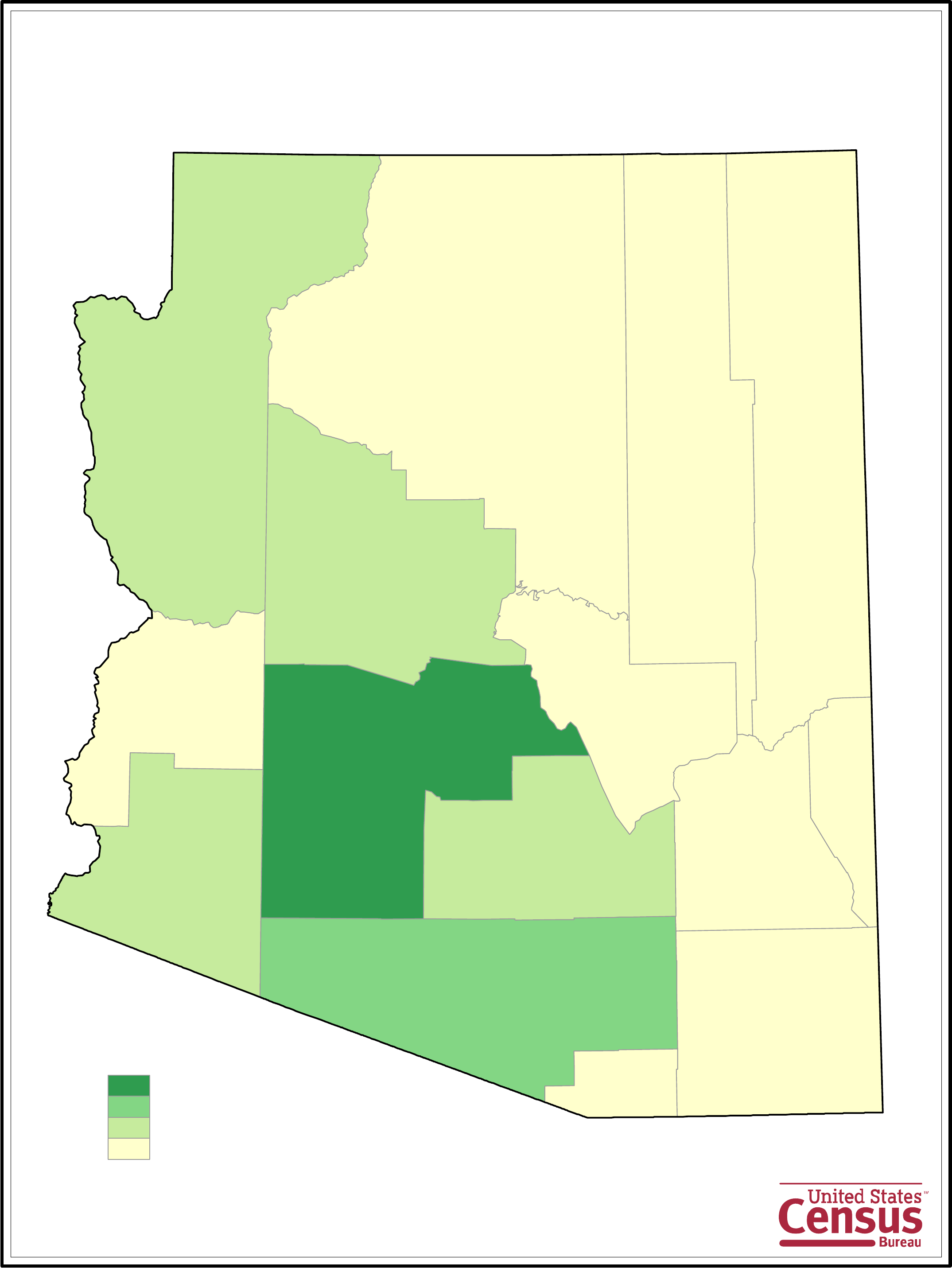 Arizona County Population Map Free Download