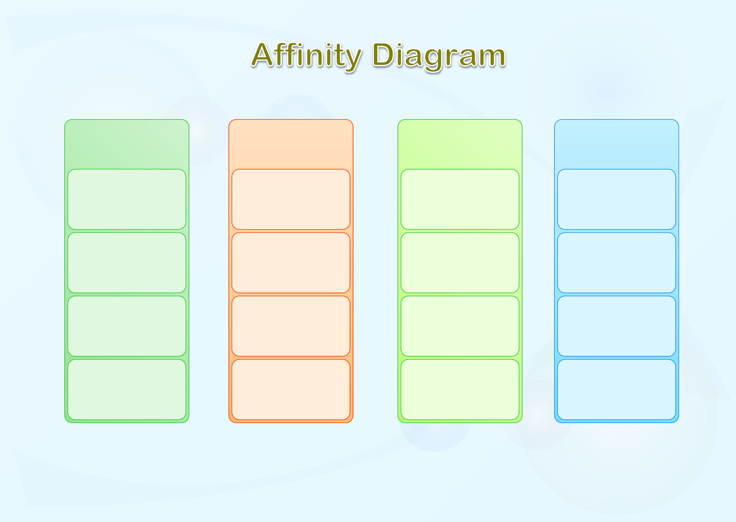 affinity diagram template form free download : affinity diagram template - findchart.co