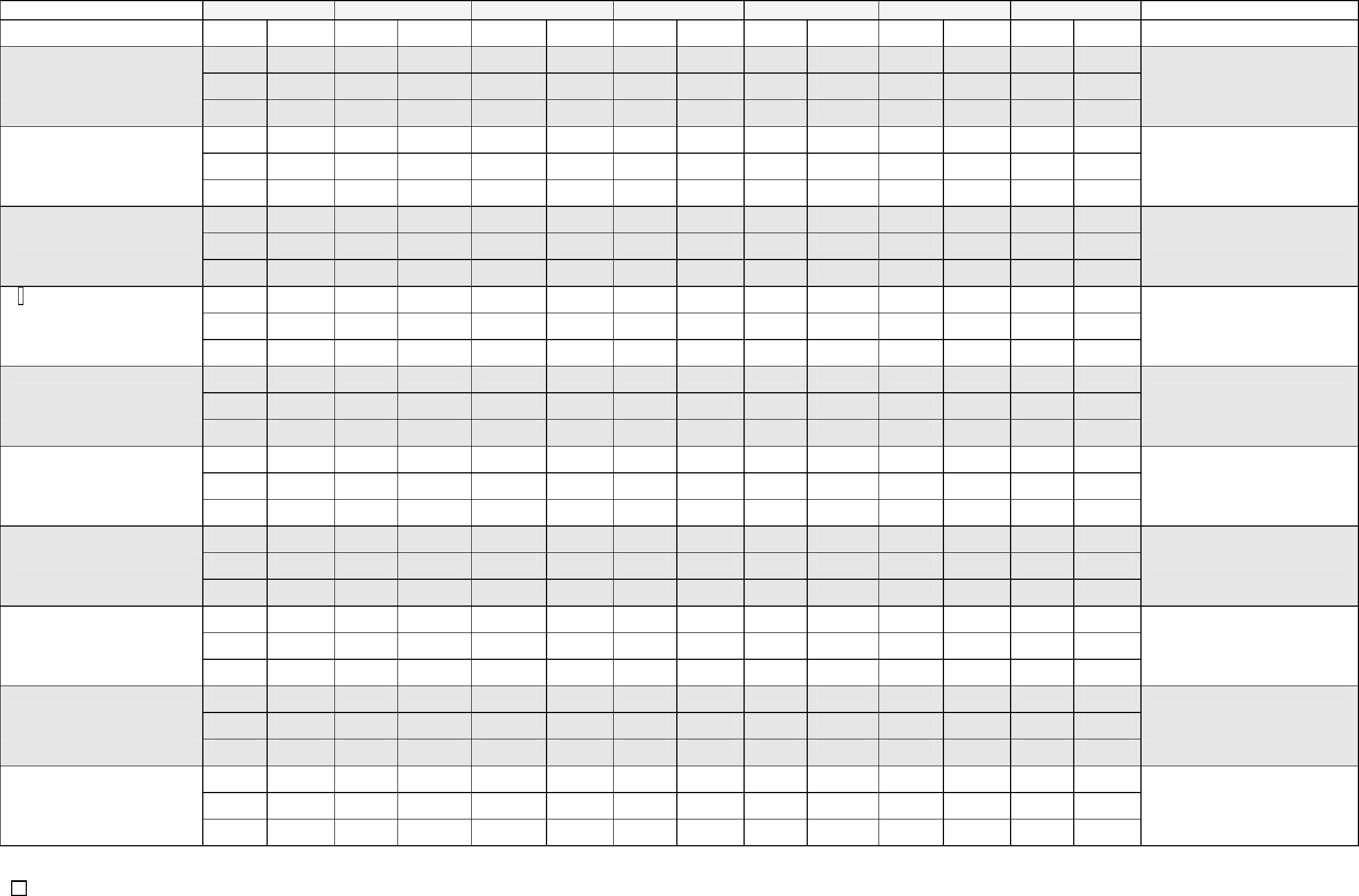 Children Weekly Attendance Sheet Free Download